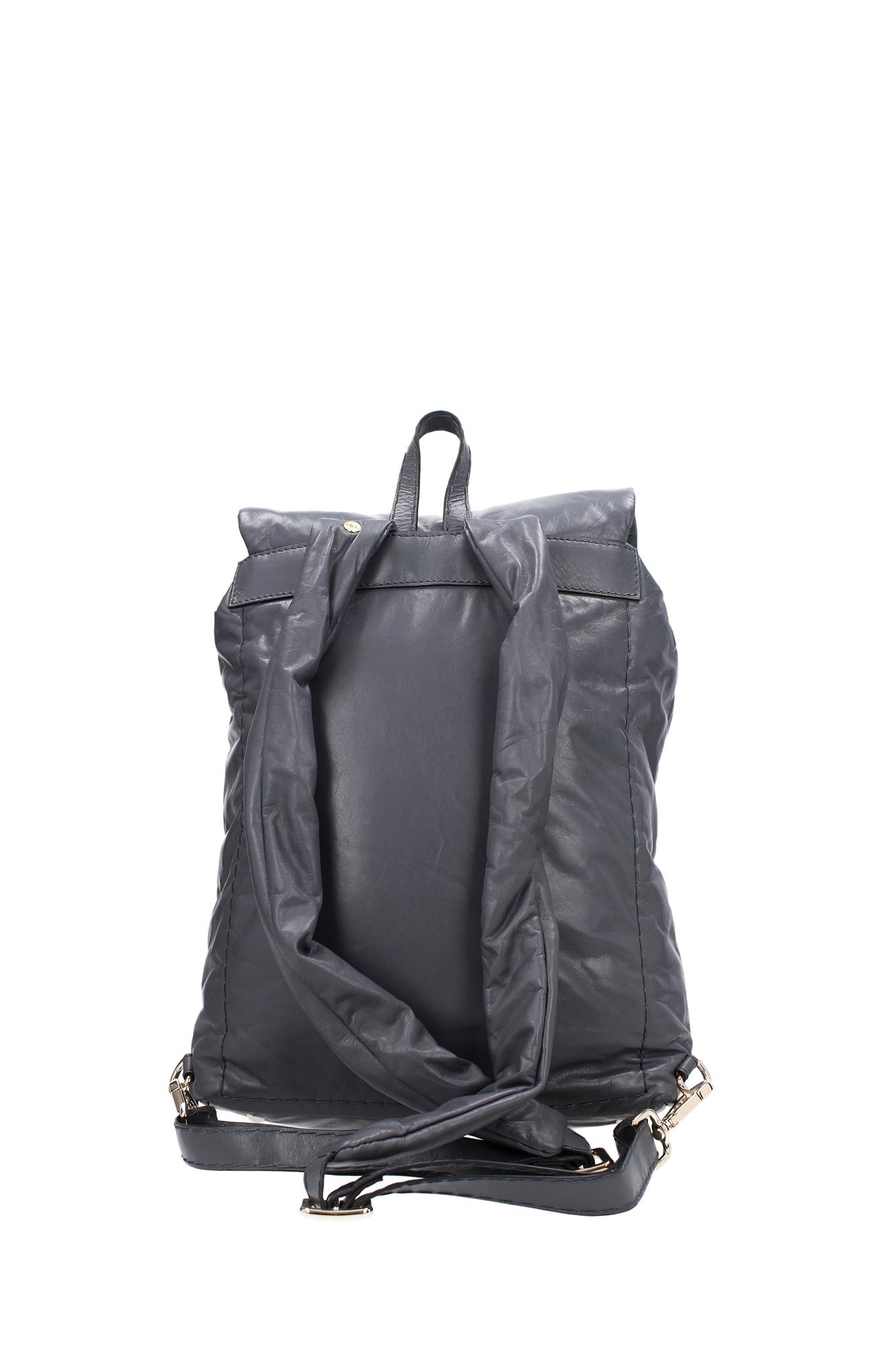 tasche rucksack zanellato damen leder grau 062778459 ebay. Black Bedroom Furniture Sets. Home Design Ideas