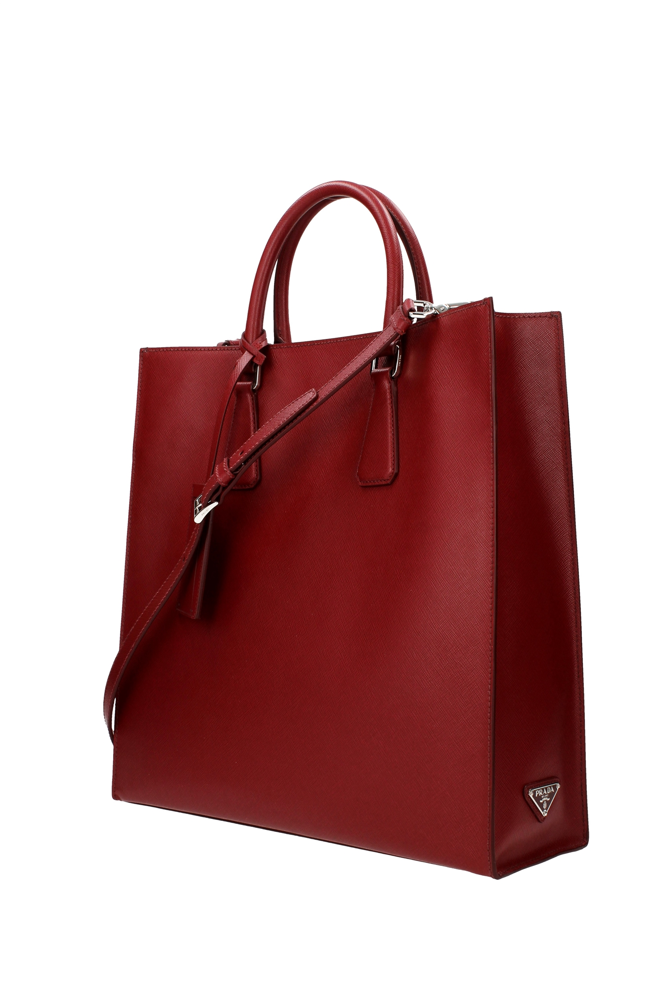 Excellent Prada Saffiano Calf Leather Tote For Women | All Handbag Fashion