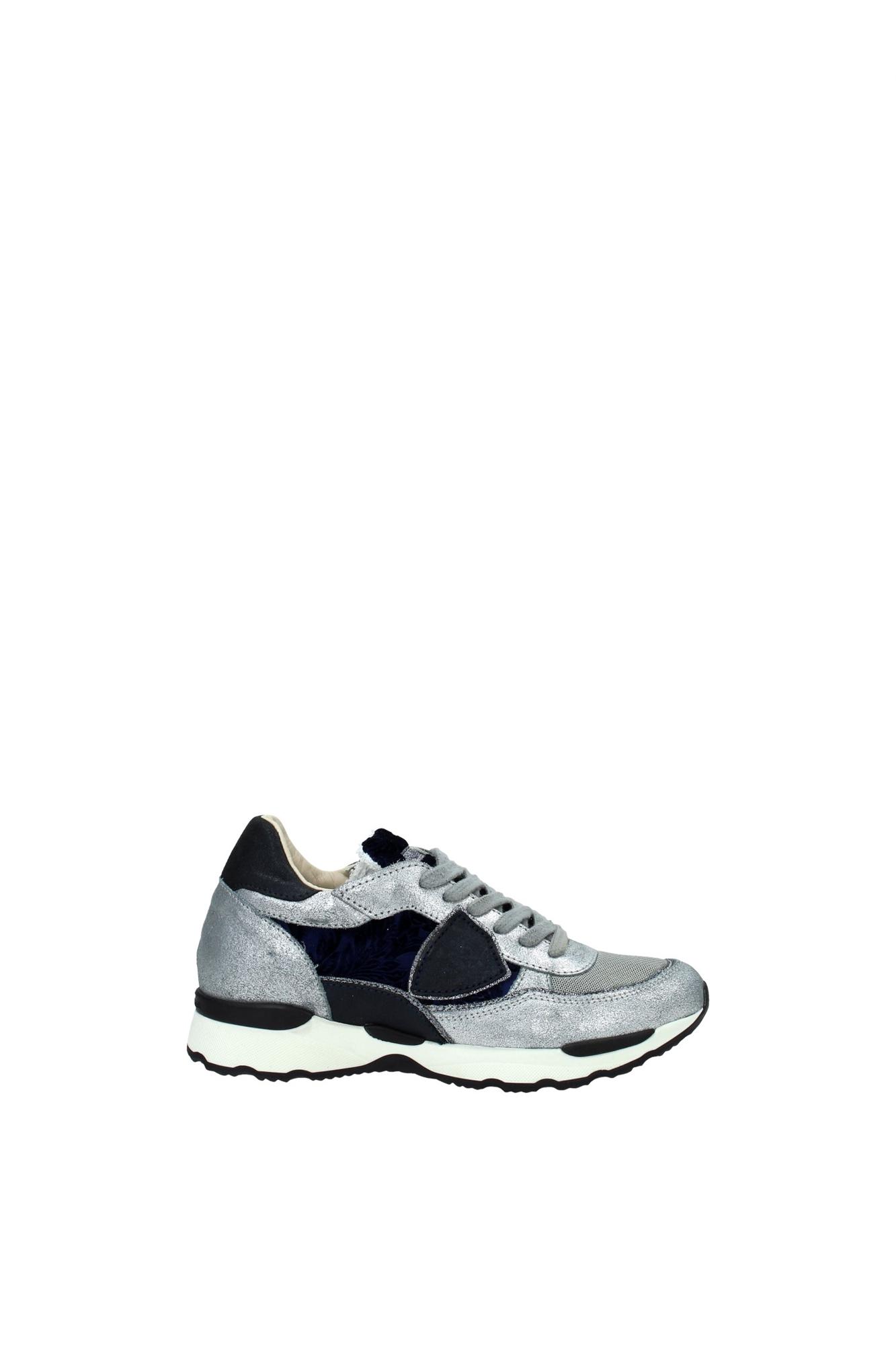 sneakers philippe model damen wildleder silber cyldde02 ebay. Black Bedroom Furniture Sets. Home Design Ideas