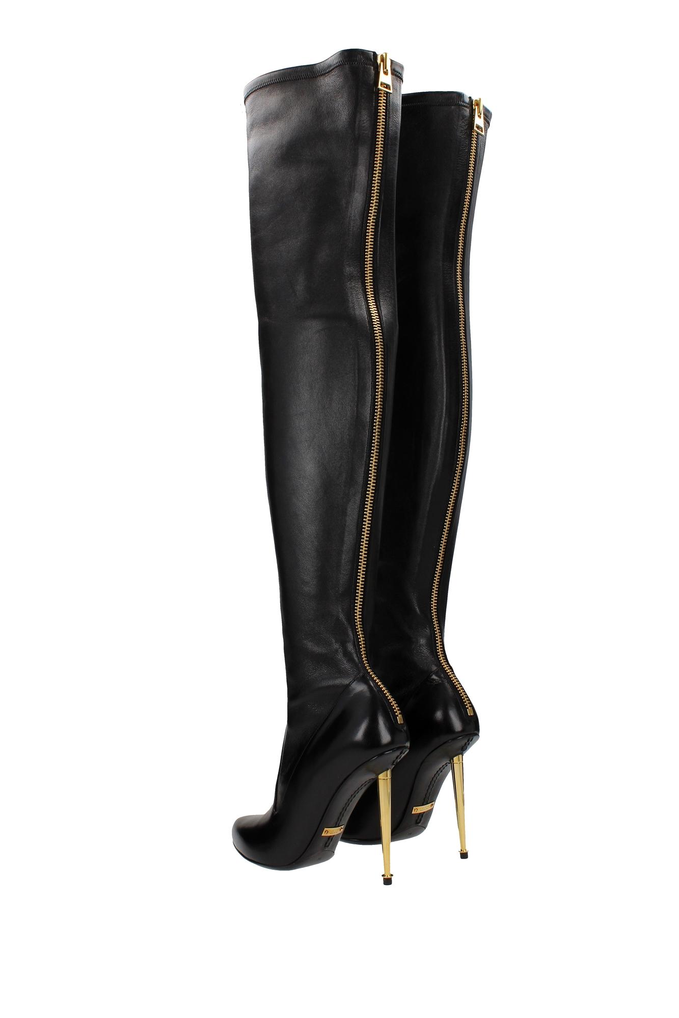 stiefel tom ford damen leder schwarz 214w1151tnstblk ebay. Black Bedroom Furniture Sets. Home Design Ideas