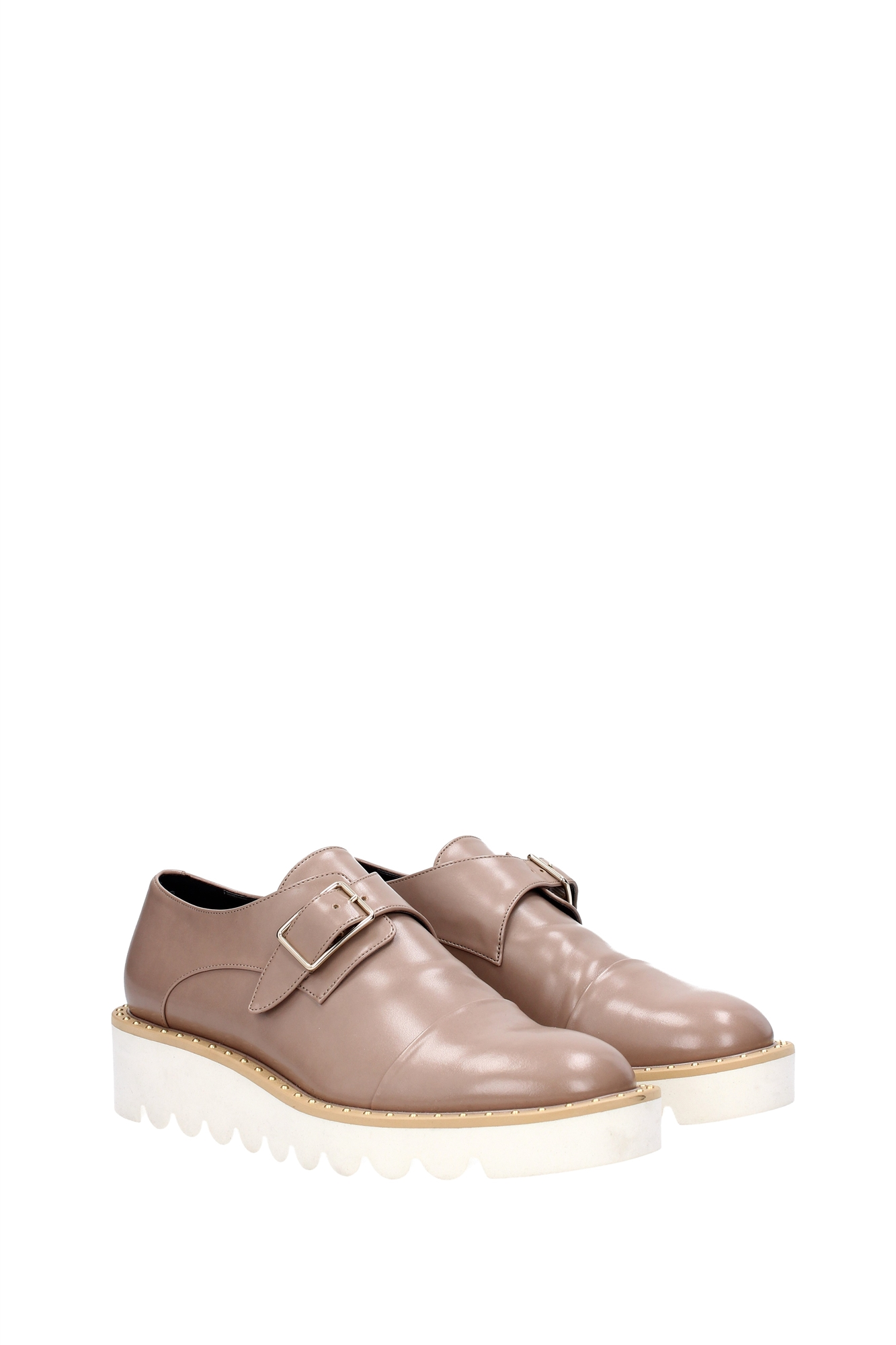 lace up shoes stella mccartney eco leather brown