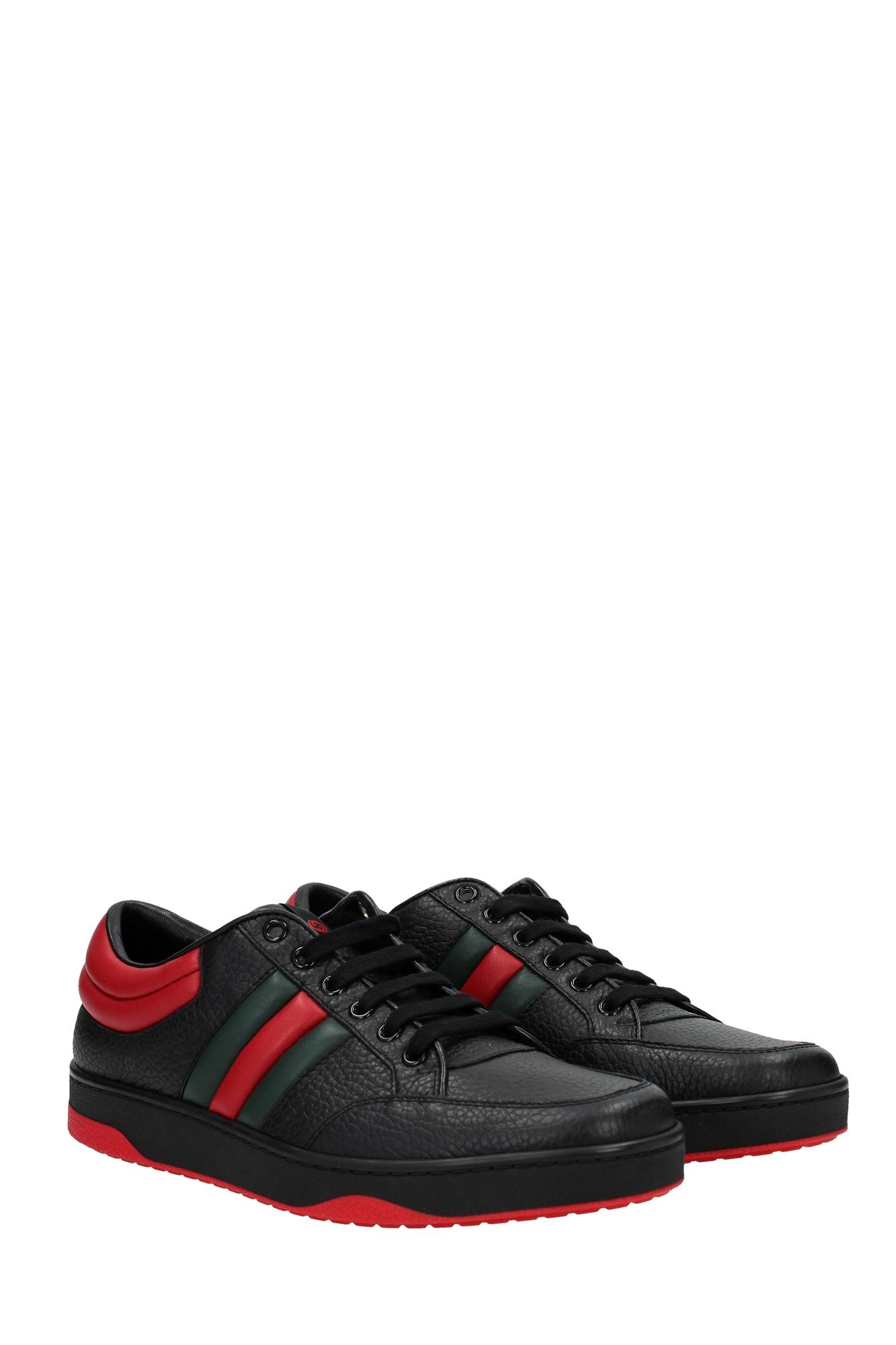 sneakers gucci herren leder schwarz 407330def301074 ebay. Black Bedroom Furniture Sets. Home Design Ideas