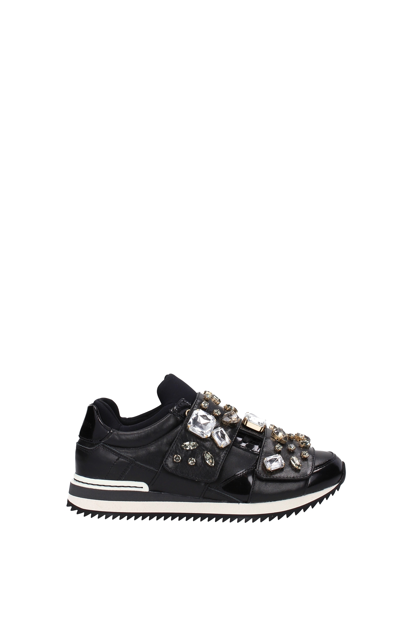 sneakers dolce gabbana women leather black ck0004al3908b956 ebay. Black Bedroom Furniture Sets. Home Design Ideas