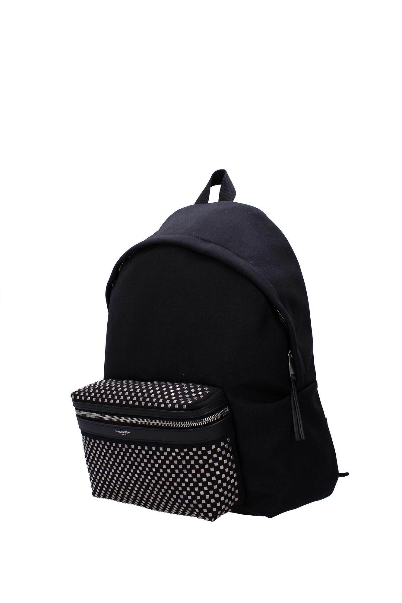 tasche rucksack saint laurent herren stoff schwarz. Black Bedroom Furniture Sets. Home Design Ideas