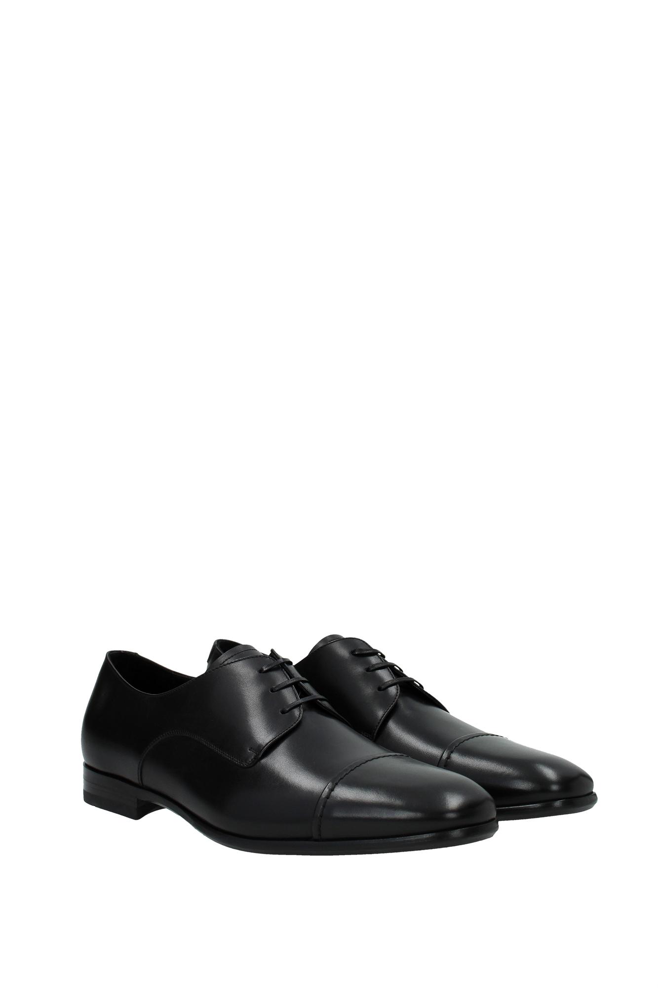 lace up shoes salvatore ferragamo leather black