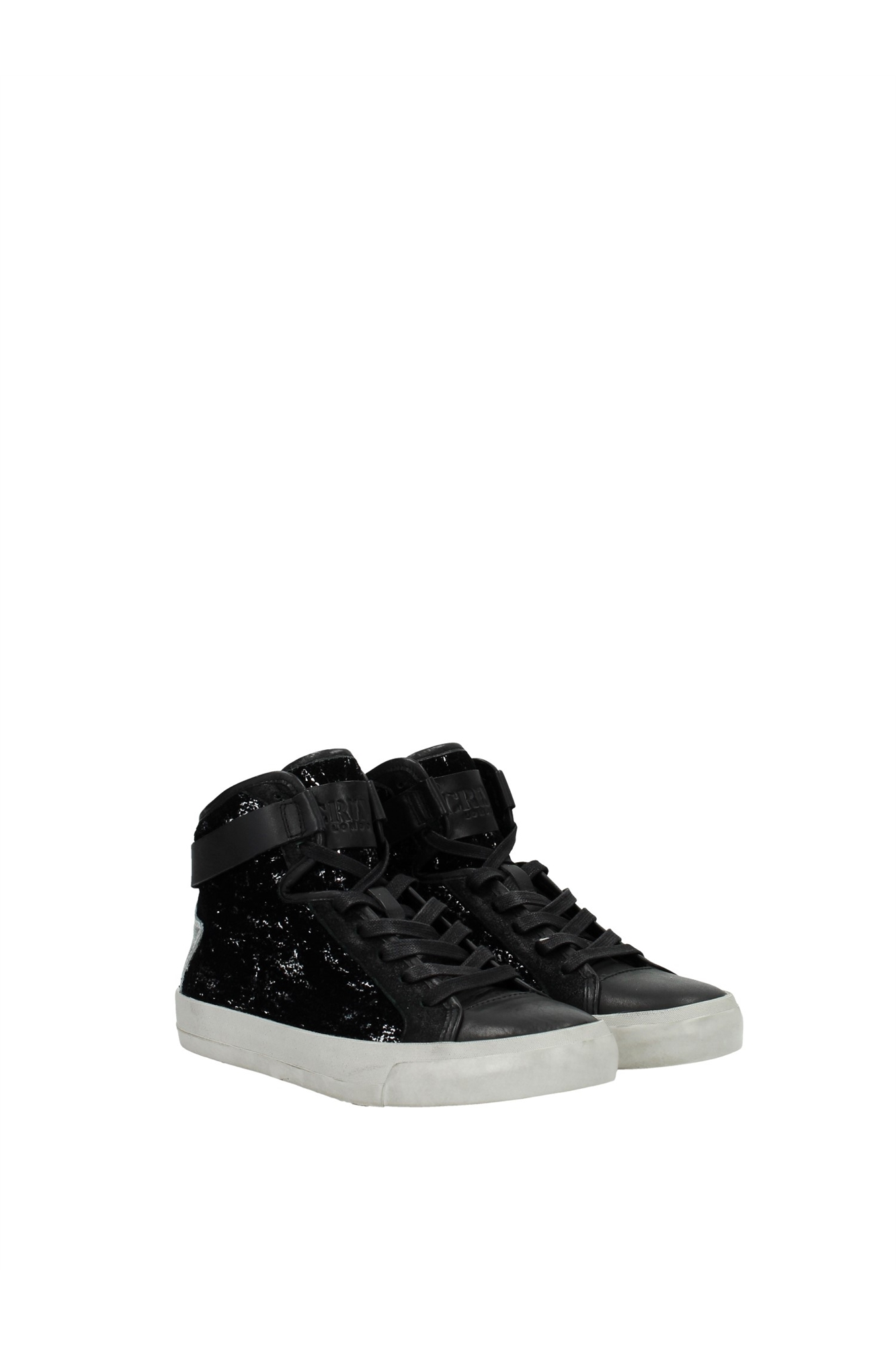 sneakers crime damen pailletten schwarz 25093a15b91 ebay. Black Bedroom Furniture Sets. Home Design Ideas