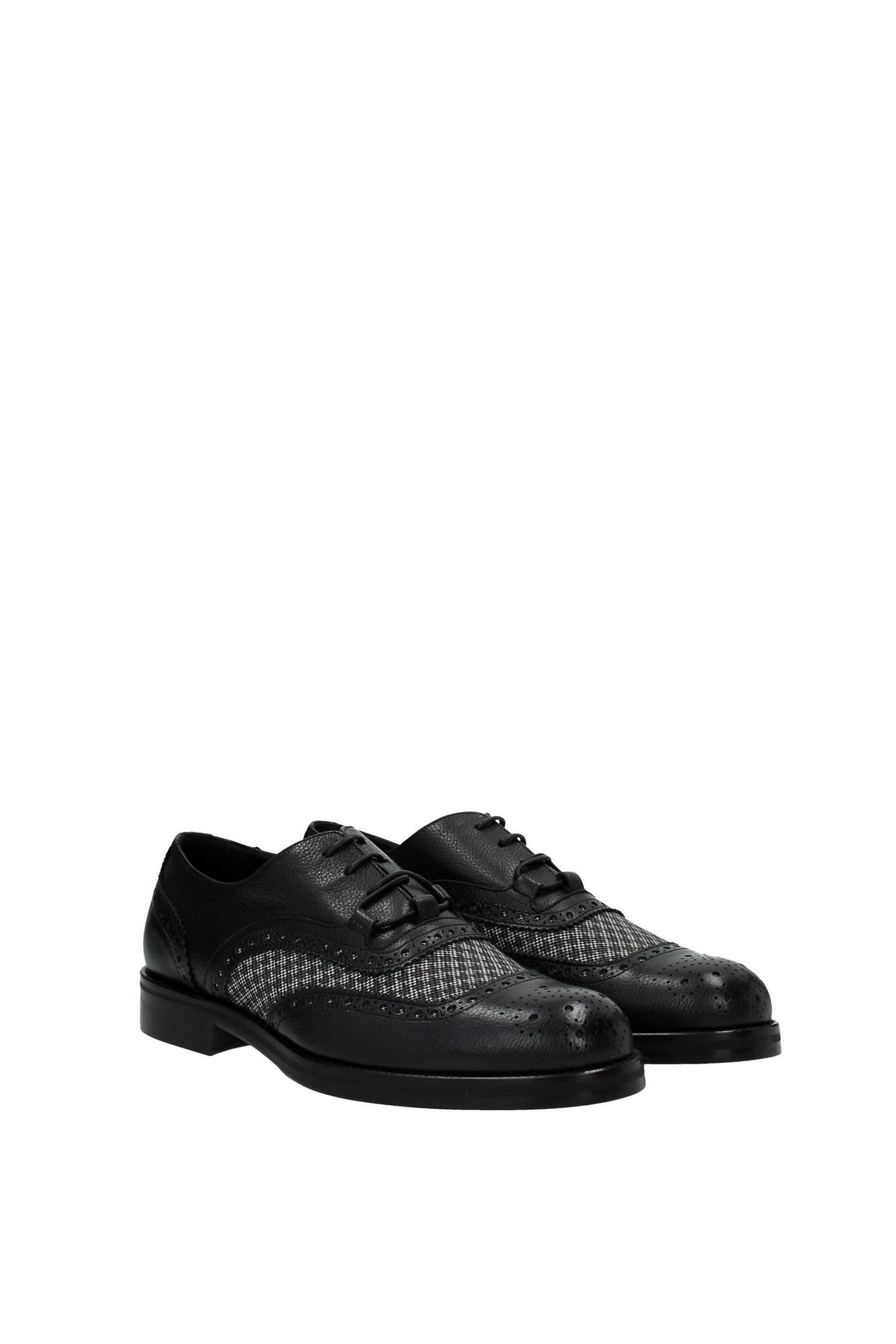 lace up shoes armani collezioni leather black