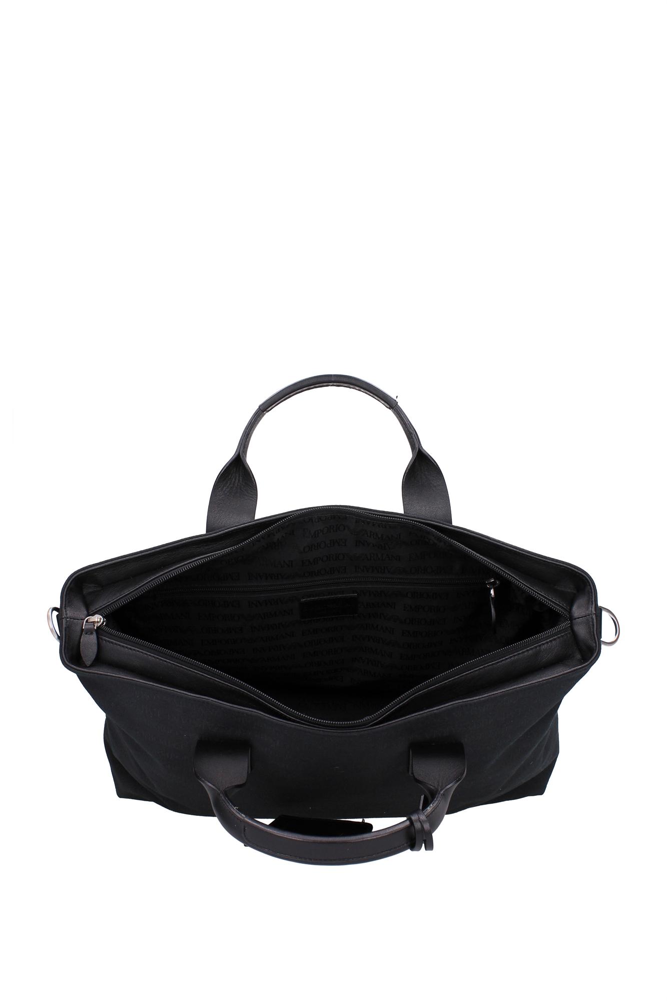 shopper taschen armani emporio damen stoff schwarz. Black Bedroom Furniture Sets. Home Design Ideas