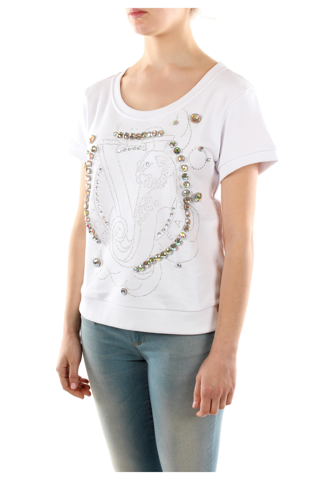Tops Versace Jeans Women Cotton White B6HLB789LDM30036112003 | eBay
