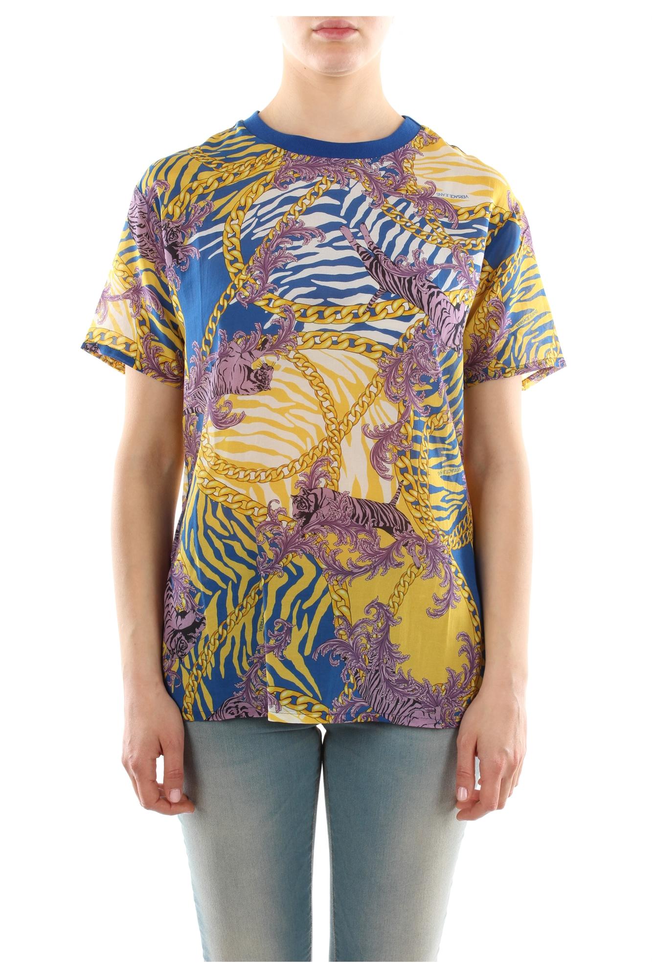 T shirt versace jeans women cotton multicolor b2hlb70216888619 for Versace t shirts women