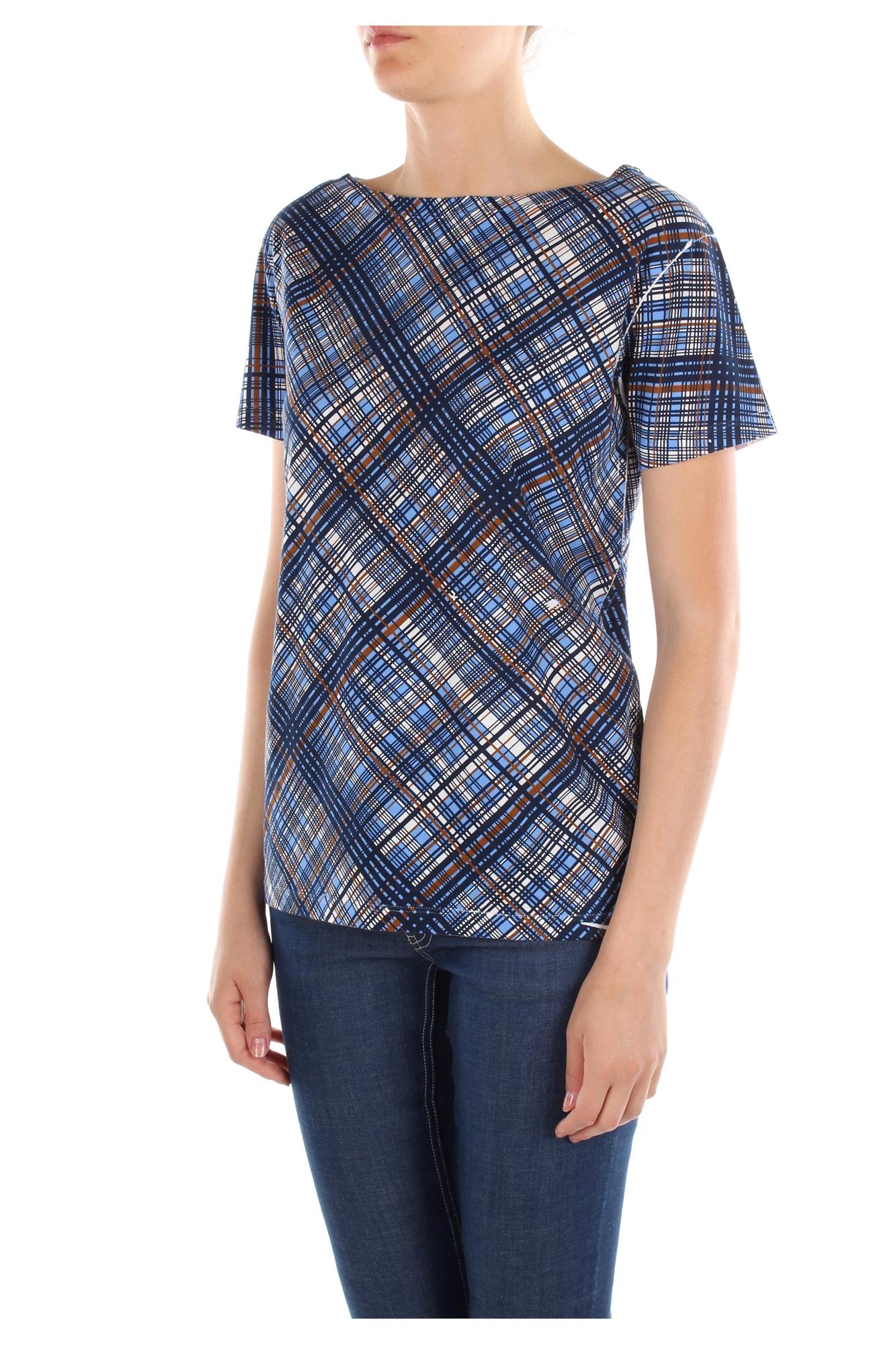 T-Shirt Prada Women Cotton Multicolor 35722CELESTE