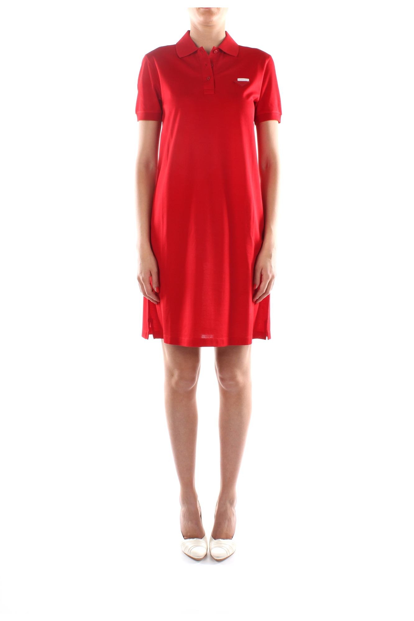 dresses prada women cotton red 133161rosso