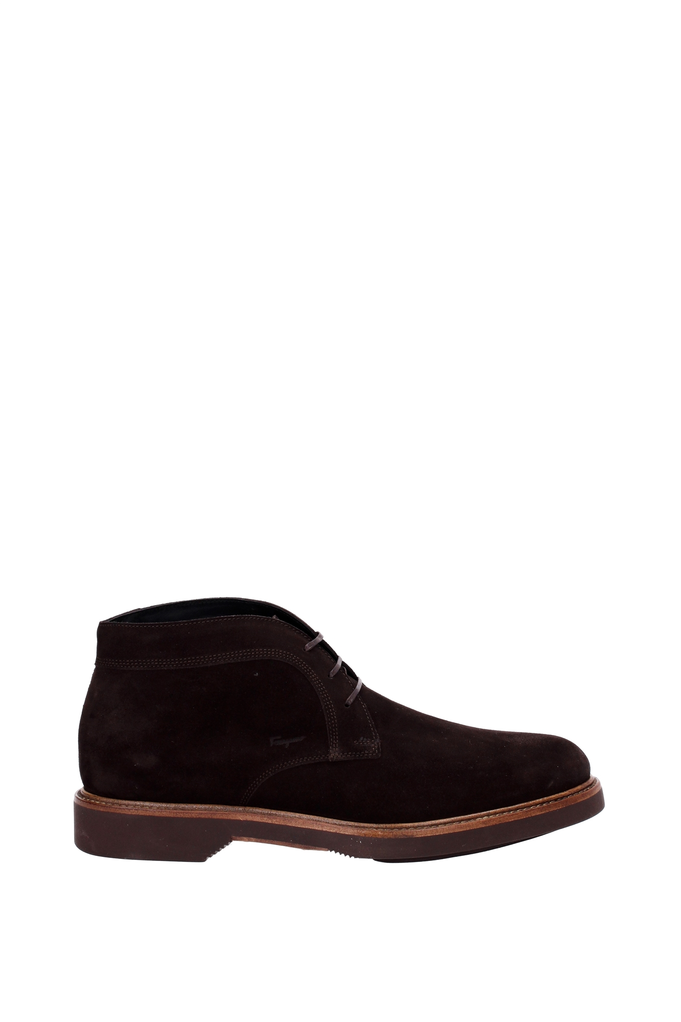 ankle boots salvatore ferragamo suede brown