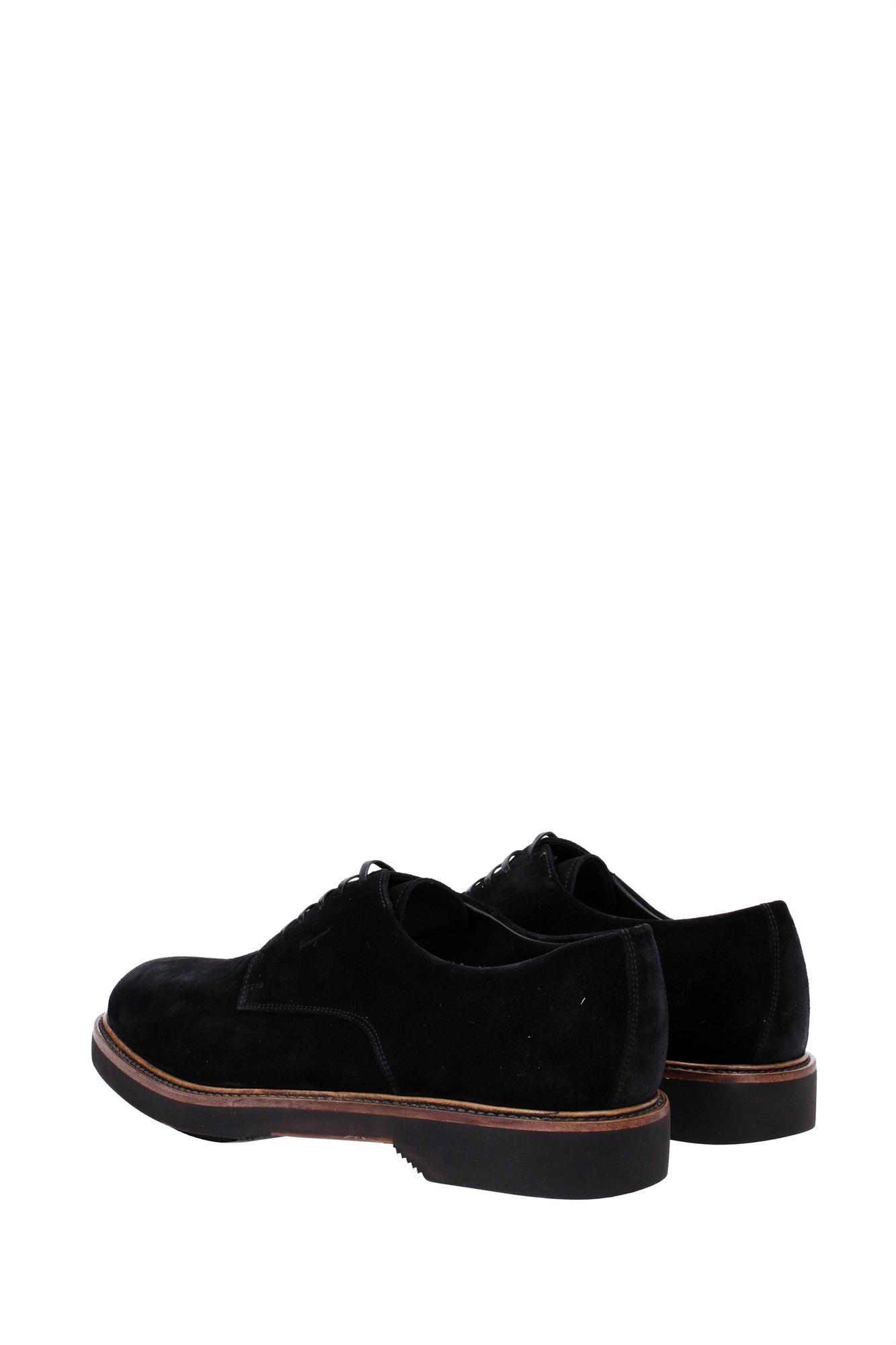 lace up shoes salvatore ferragamo suede black