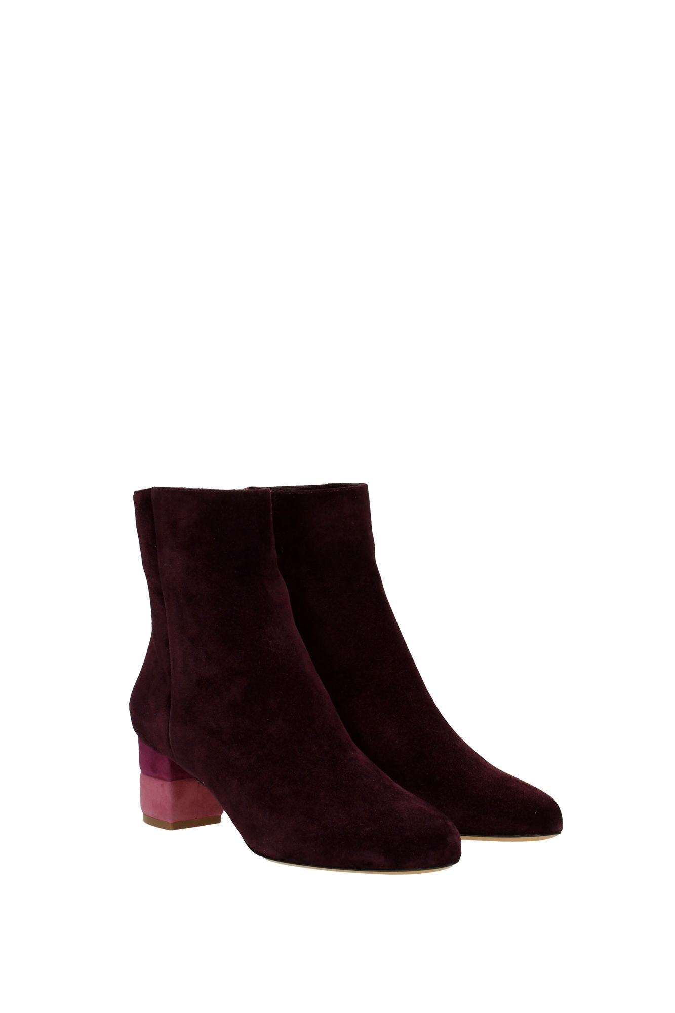 ankle boots salvatore ferragamo suede violet