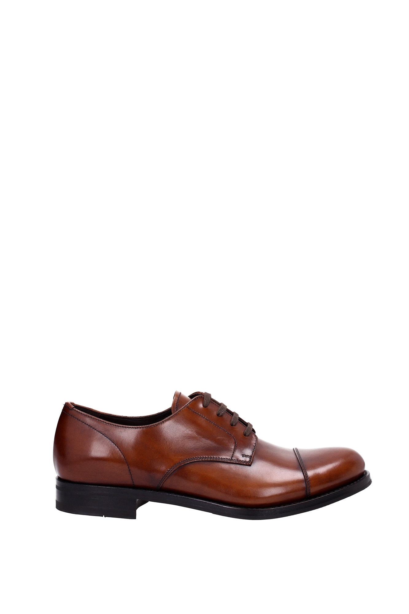 lace up shoes prada leather brown 2ea108bruciato