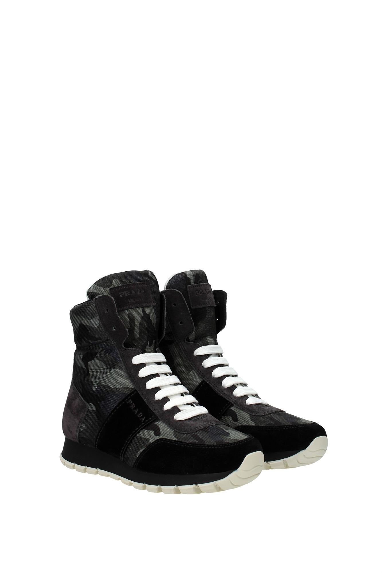 sneakers prada damen stoff gr n 3t6111nerocamouflage ebay. Black Bedroom Furniture Sets. Home Design Ideas