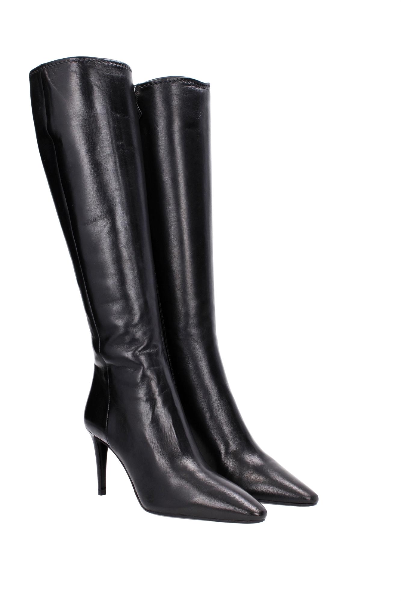 Model Iichicshoes  Prada Womens Black Leather Platform Zipper