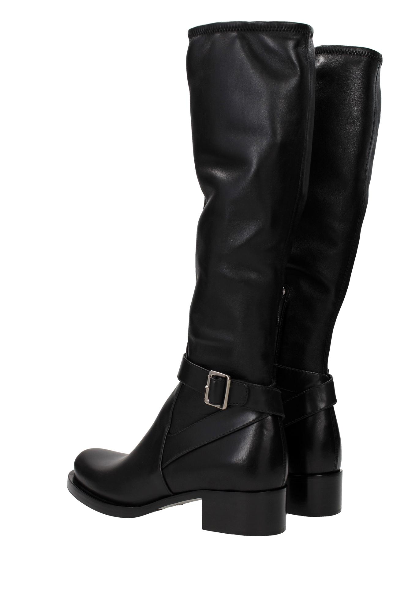 boots prada leather black 1w087gnero ebay