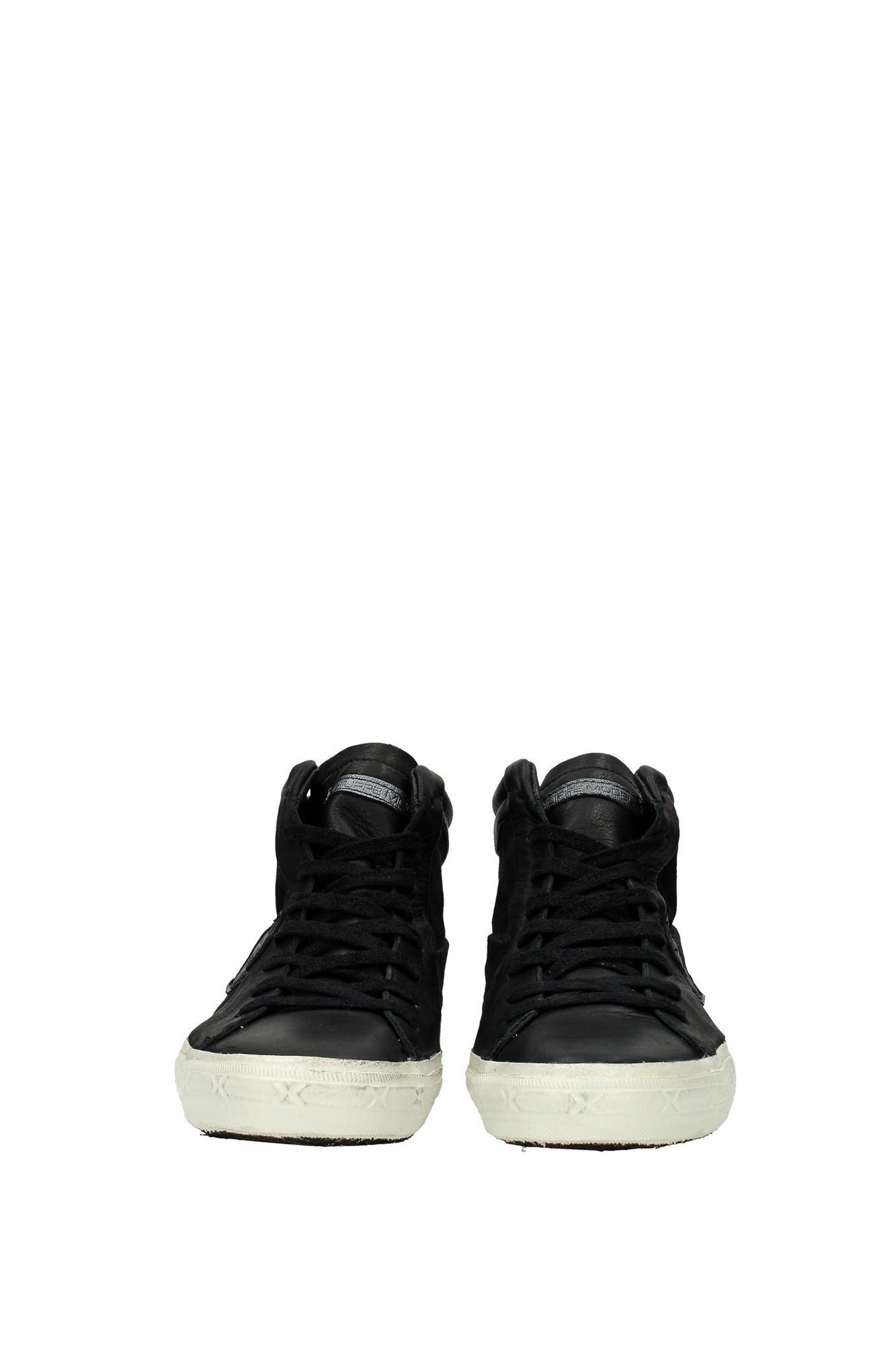sneakers philippe model herren leder schwarz mdhuld01 ebay. Black Bedroom Furniture Sets. Home Design Ideas