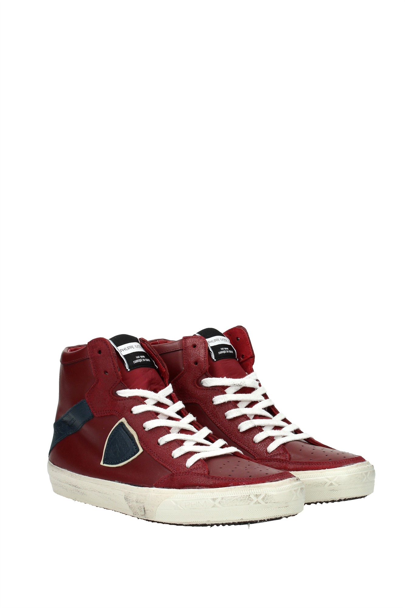 sneakers philippe model herren leder rot knhuvl02 ebay. Black Bedroom Furniture Sets. Home Design Ideas