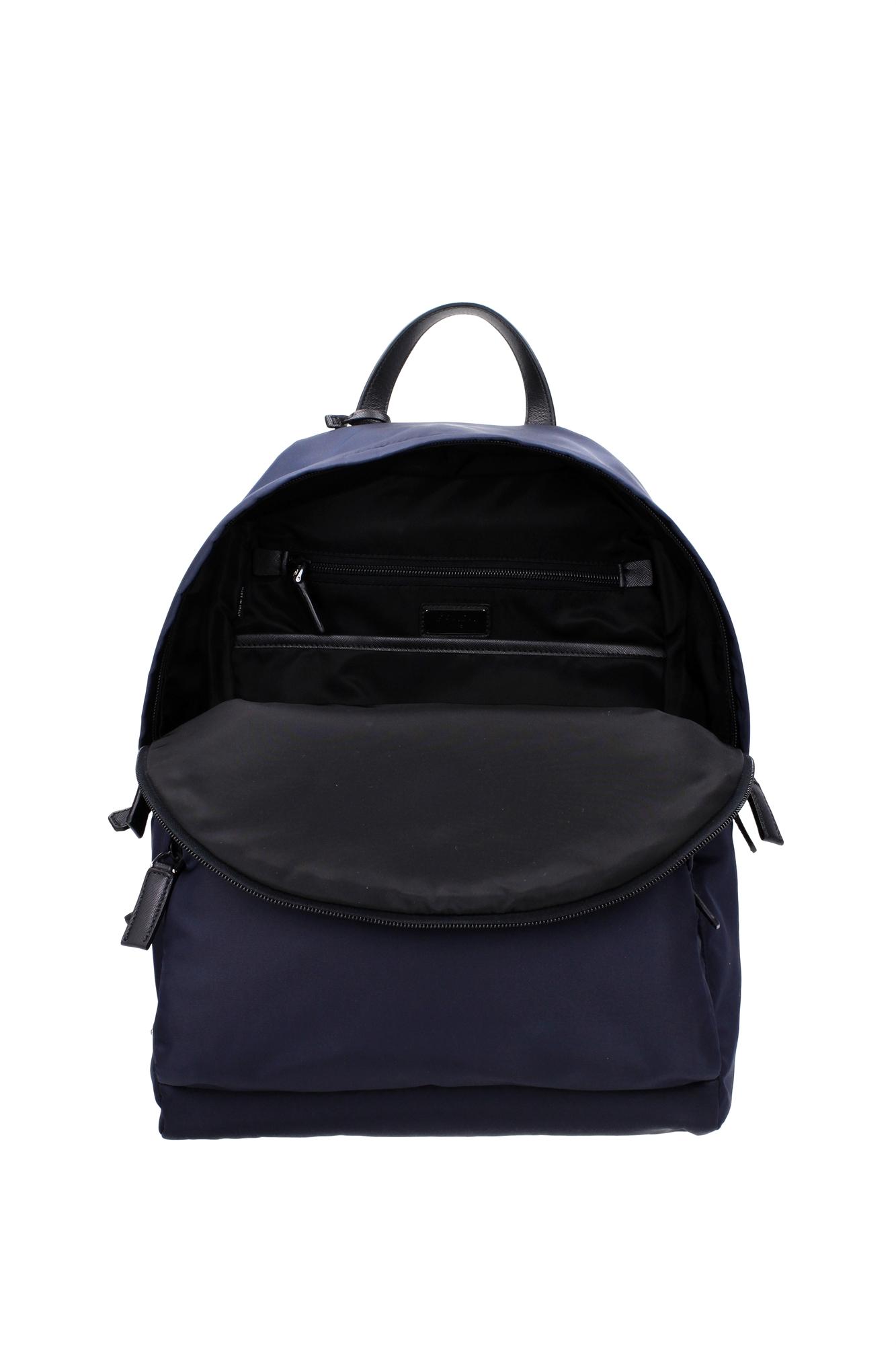 tasche rucksack prada herren stoff blau 2vz066bleu ebay. Black Bedroom Furniture Sets. Home Design Ideas