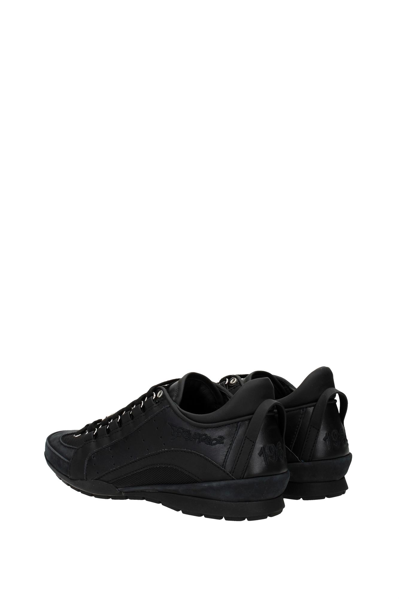 sneakers dsquared2 herren leder schwarz w16sn4347152124 ebay. Black Bedroom Furniture Sets. Home Design Ideas