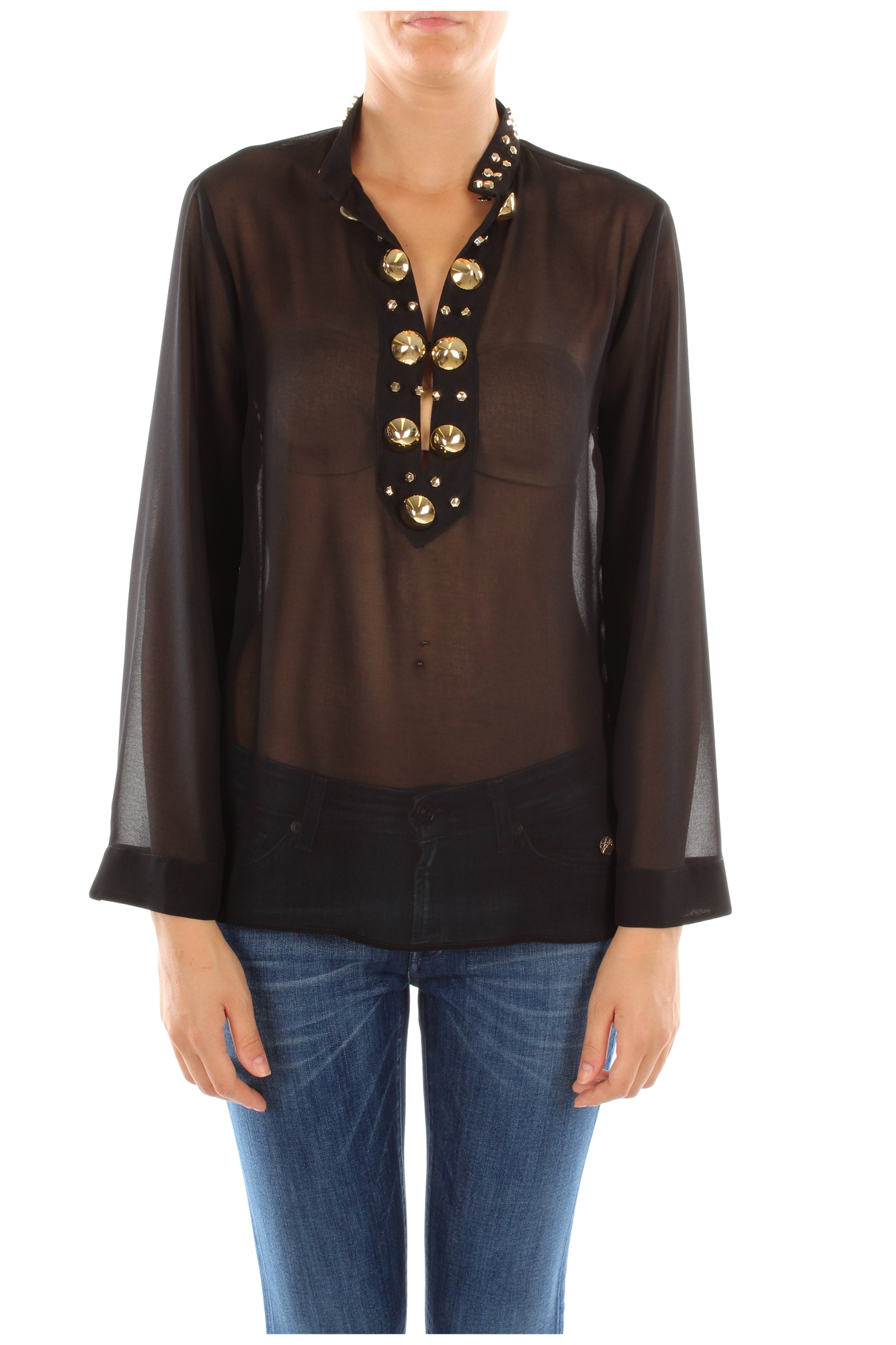 Shirts versace collection women polyester black for Versace t shirts women