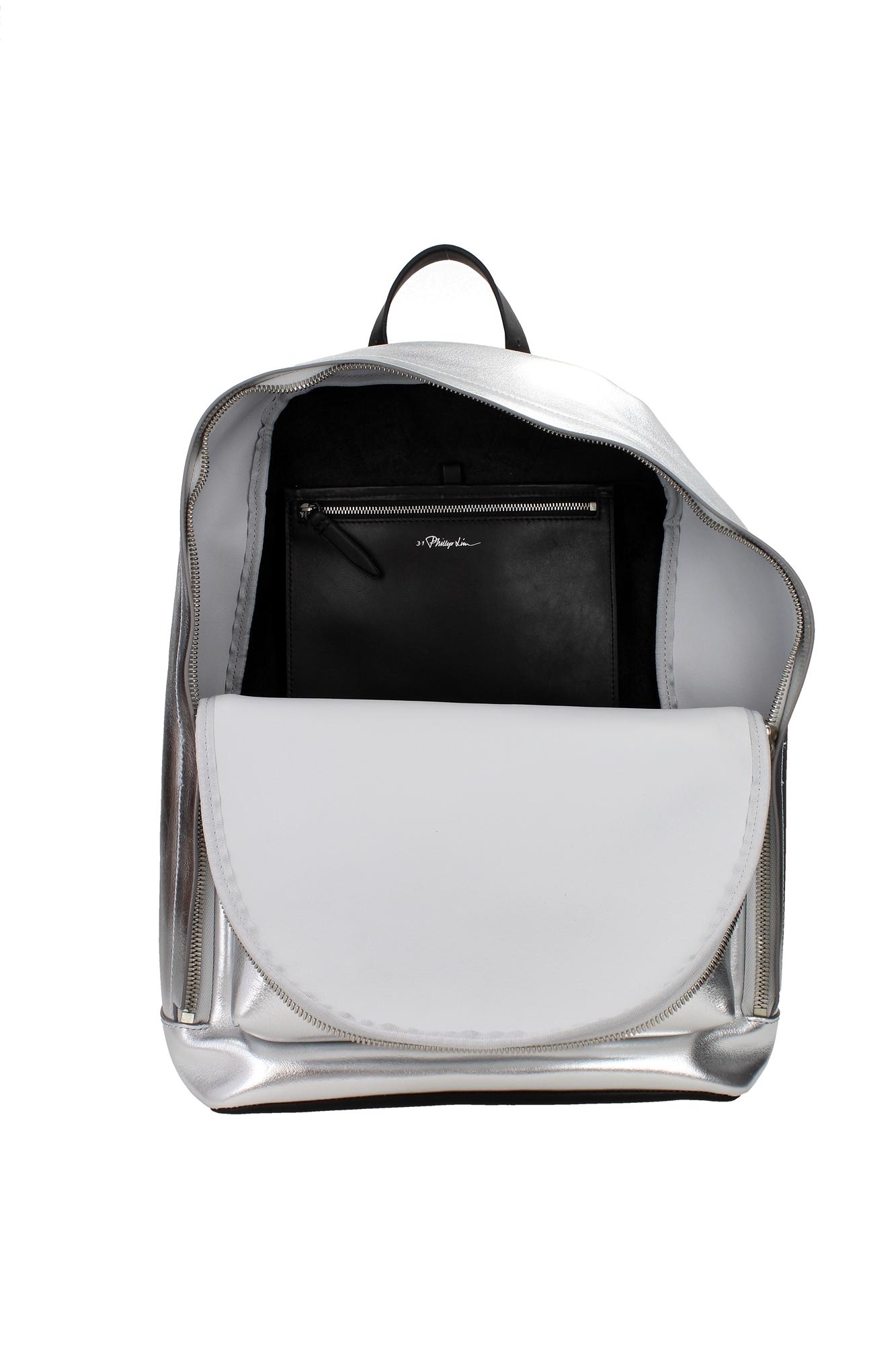 tasche rucksack 3 1 phillip lim herren leder silber ah15b015mnpmetallictin ebay. Black Bedroom Furniture Sets. Home Design Ideas