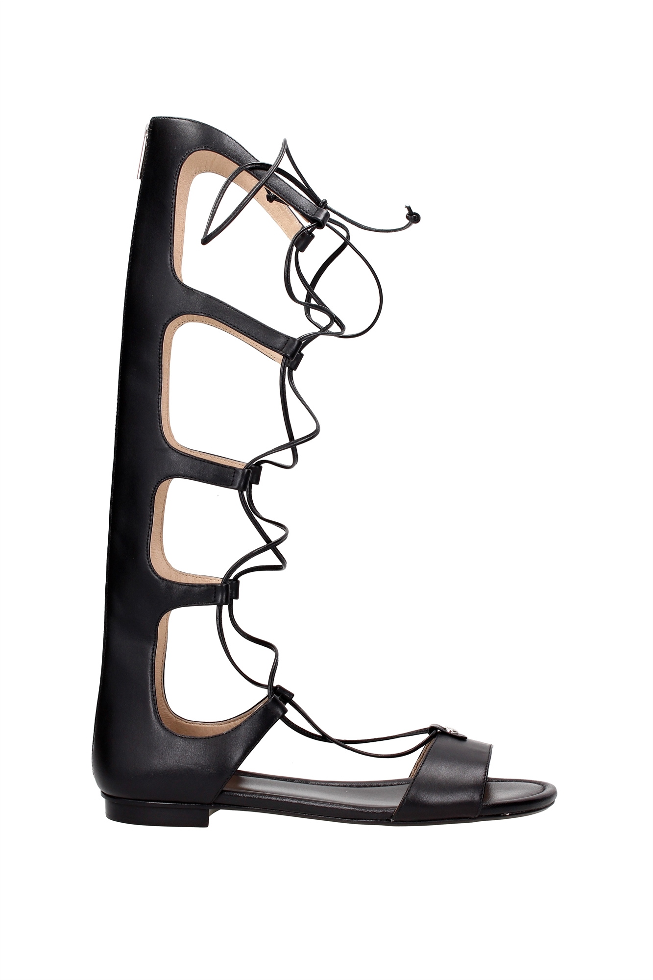 michael kors sandalen schwarz michael michael kors ella. Black Bedroom Furniture Sets. Home Design Ideas