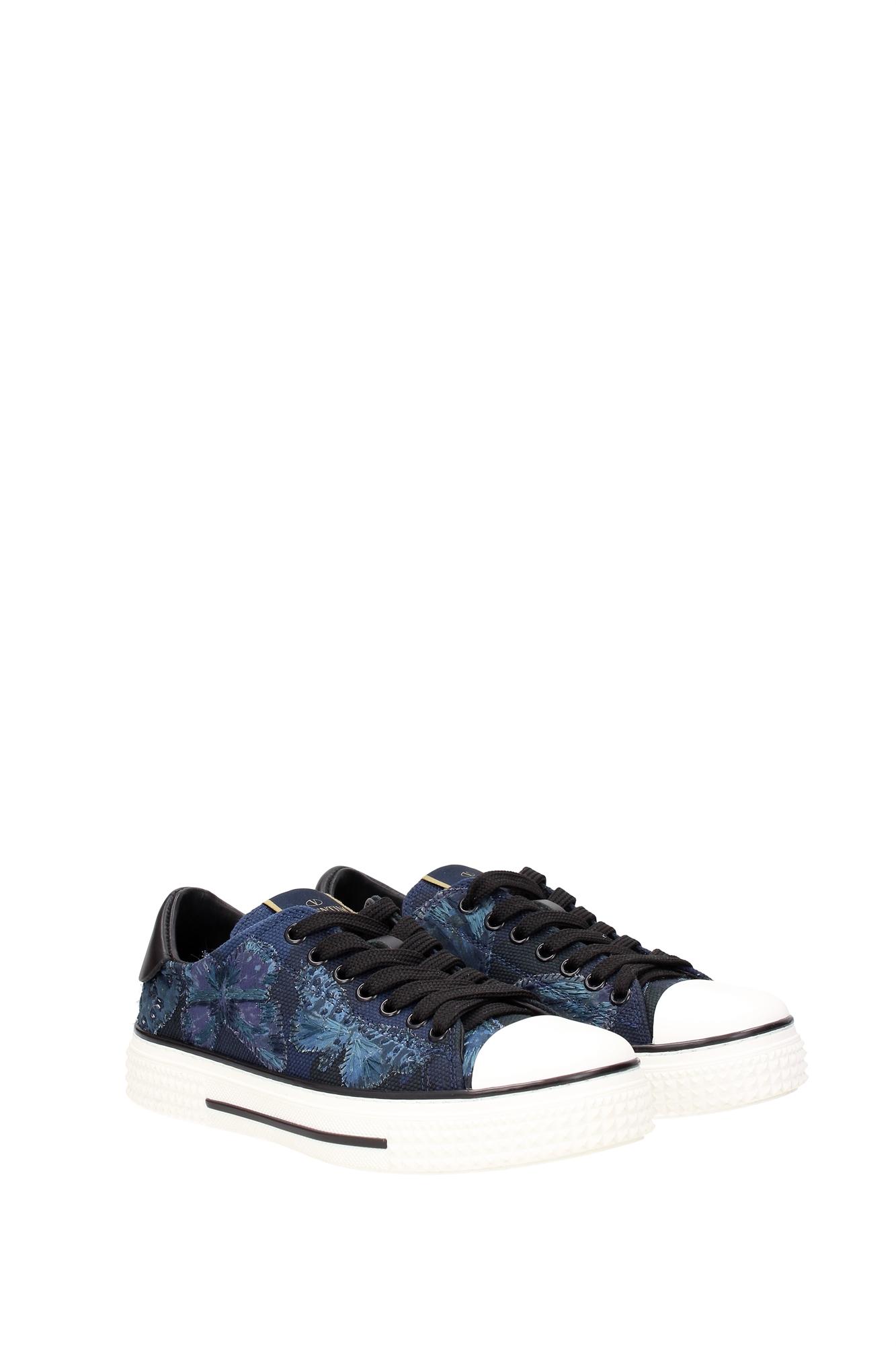 sneakers valentino garavani women fabric blue kw2s0019crmm74 ebay. Black Bedroom Furniture Sets. Home Design Ideas