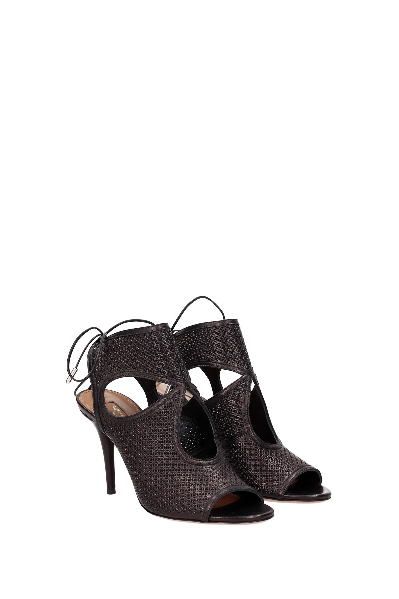 sandalen aquazzura damen leder schwarz sexmidb0npp000 ebay. Black Bedroom Furniture Sets. Home Design Ideas