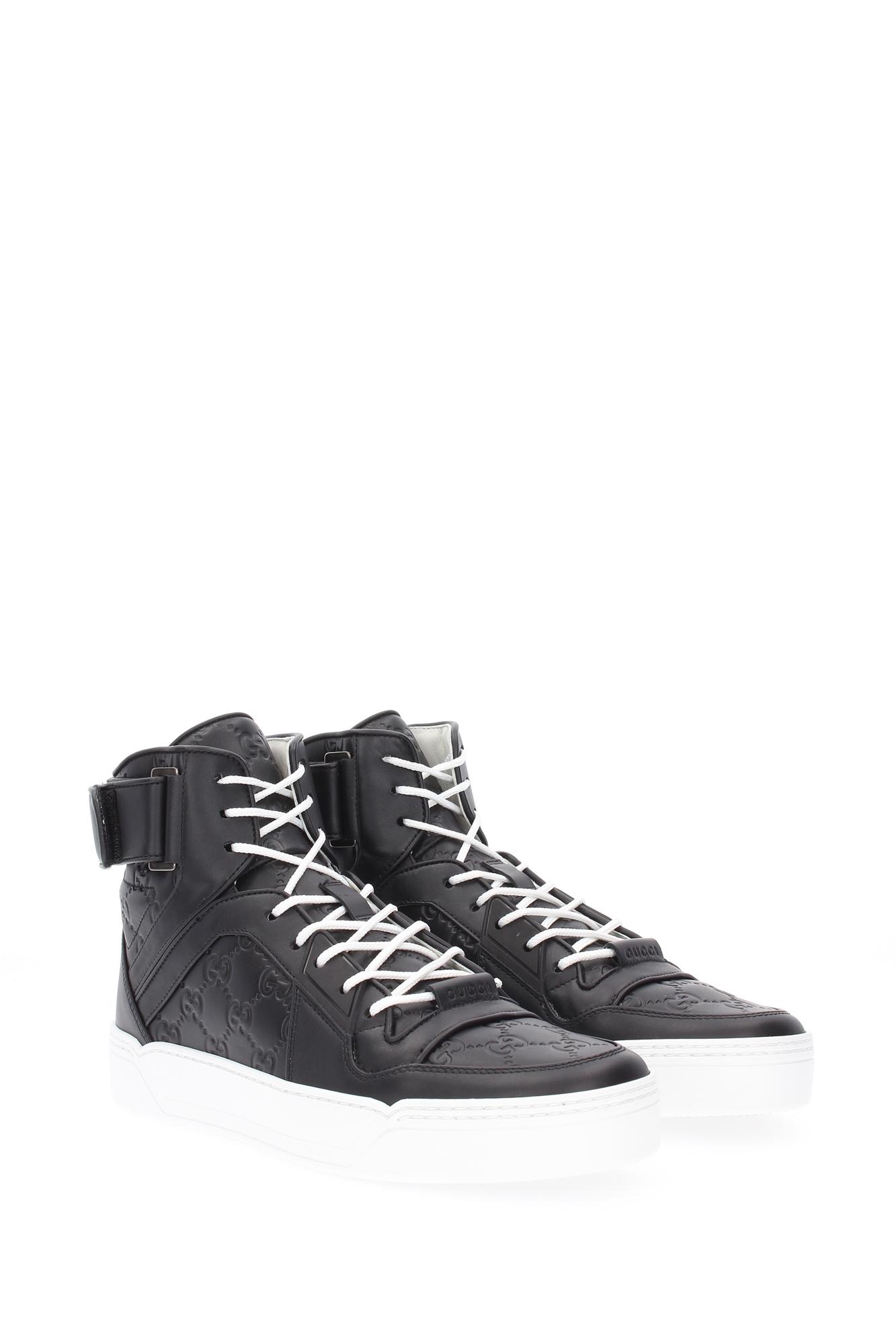 sneakers gucci herren leder schwarz 431141cwd201000 ebay. Black Bedroom Furniture Sets. Home Design Ideas
