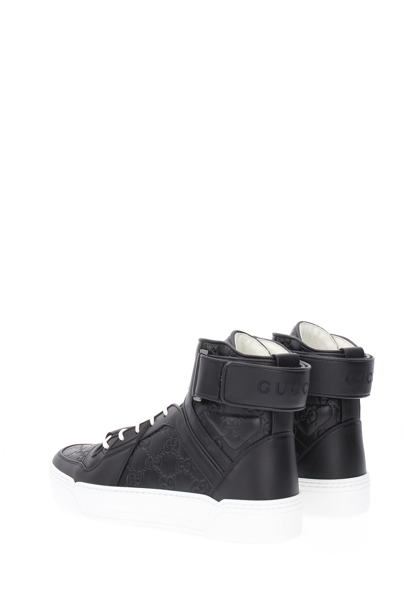 Sneakers Gucci Uomo In Pelle Nero 431141cwd201000 Ebay