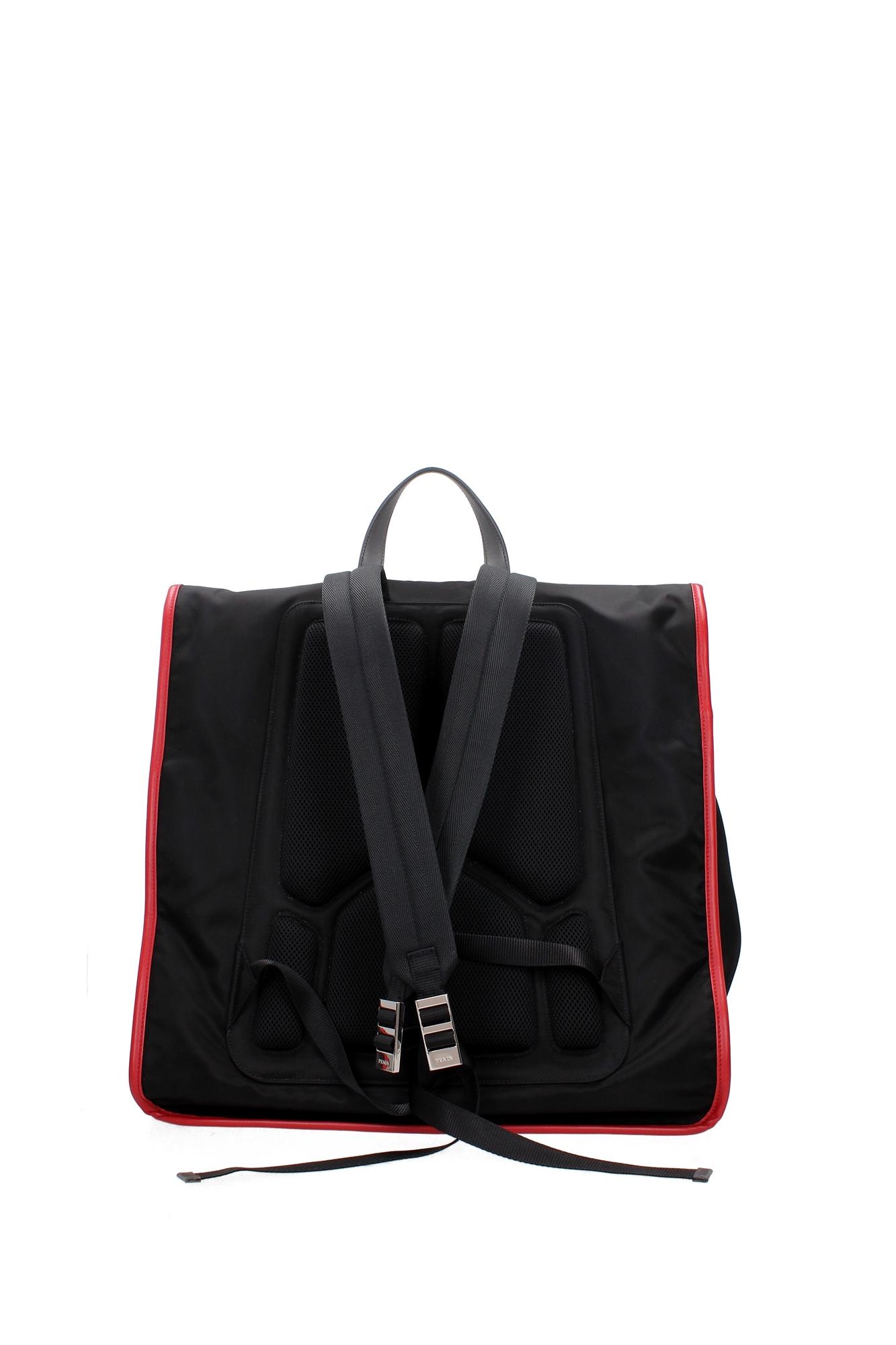 tasche rucksack prada herren stoff schwarz. Black Bedroom Furniture Sets. Home Design Ideas