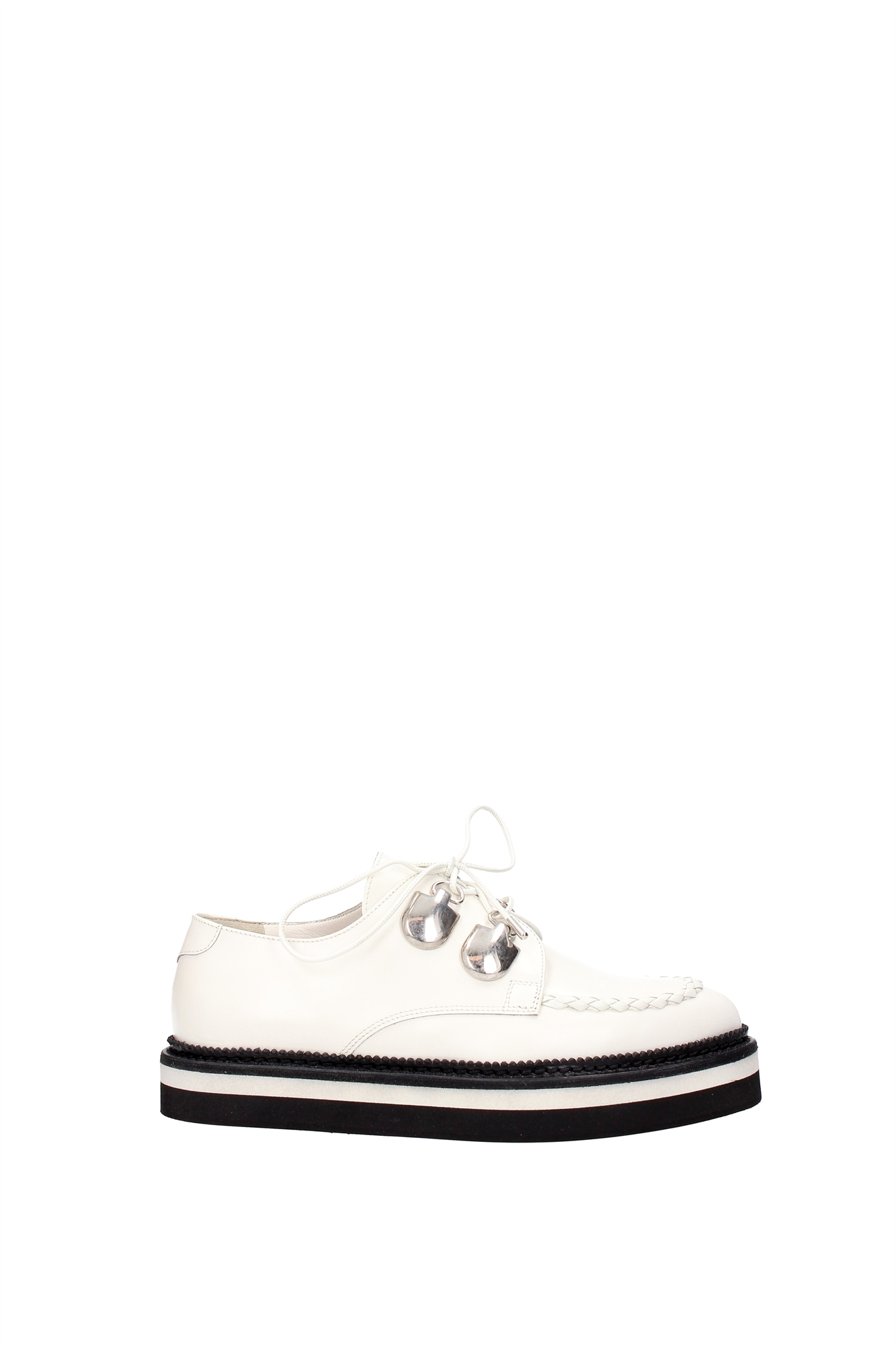 lace up shoes mcqueen leather white