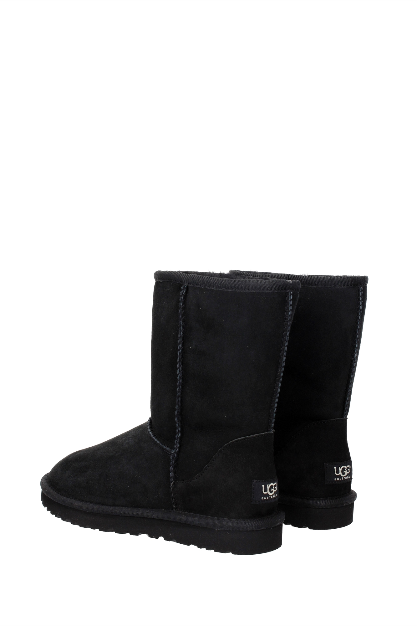 stiefeletten ugg damen wildleder schwarz wclassicshort5825blk ebay. Black Bedroom Furniture Sets. Home Design Ideas