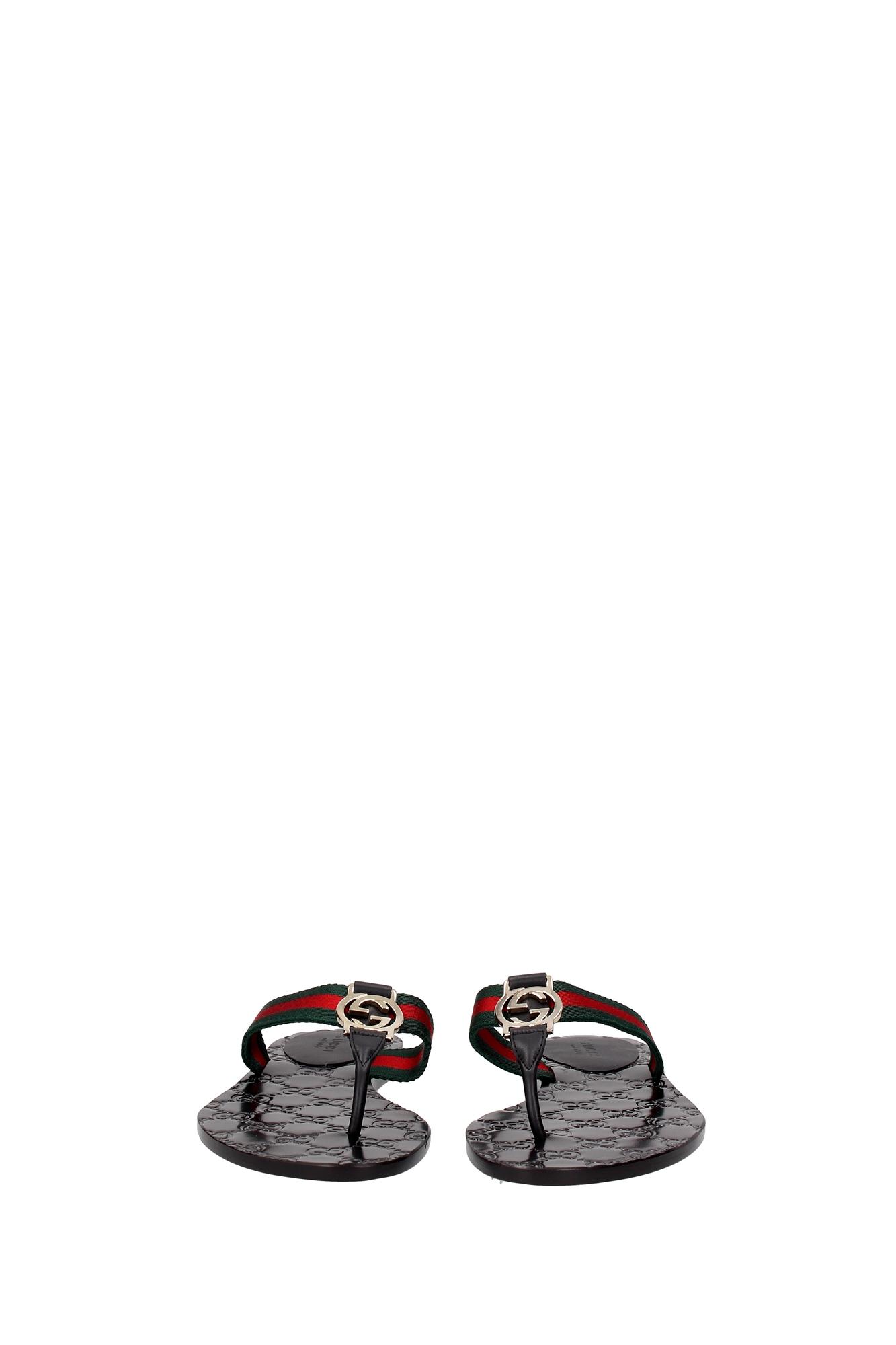 flip flops gucci damen stoff schwarz 270374h90208476 ebay. Black Bedroom Furniture Sets. Home Design Ideas