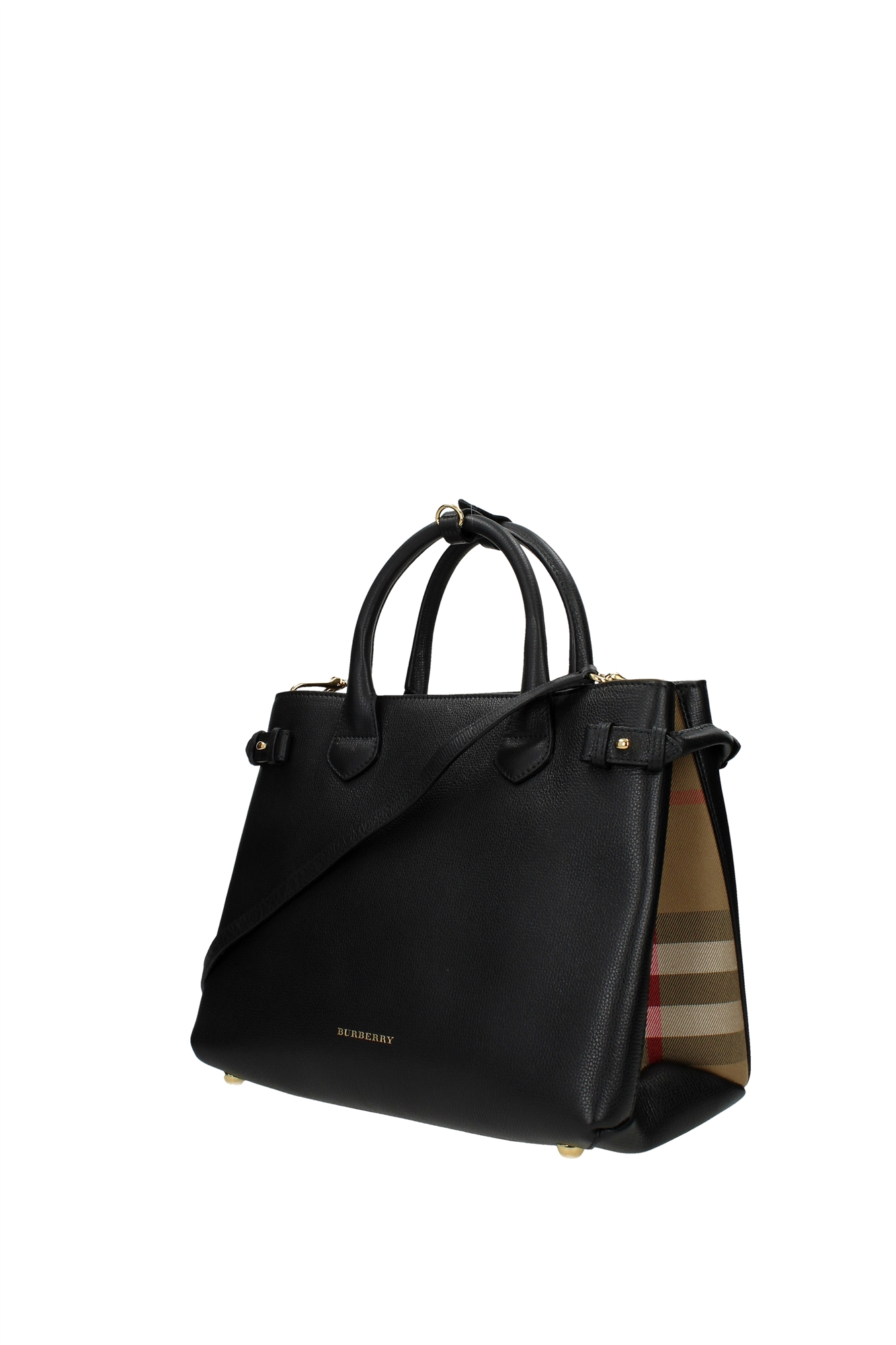bc88a1d7cc52 Hand Bags Burberry Women Leather Black 3958978