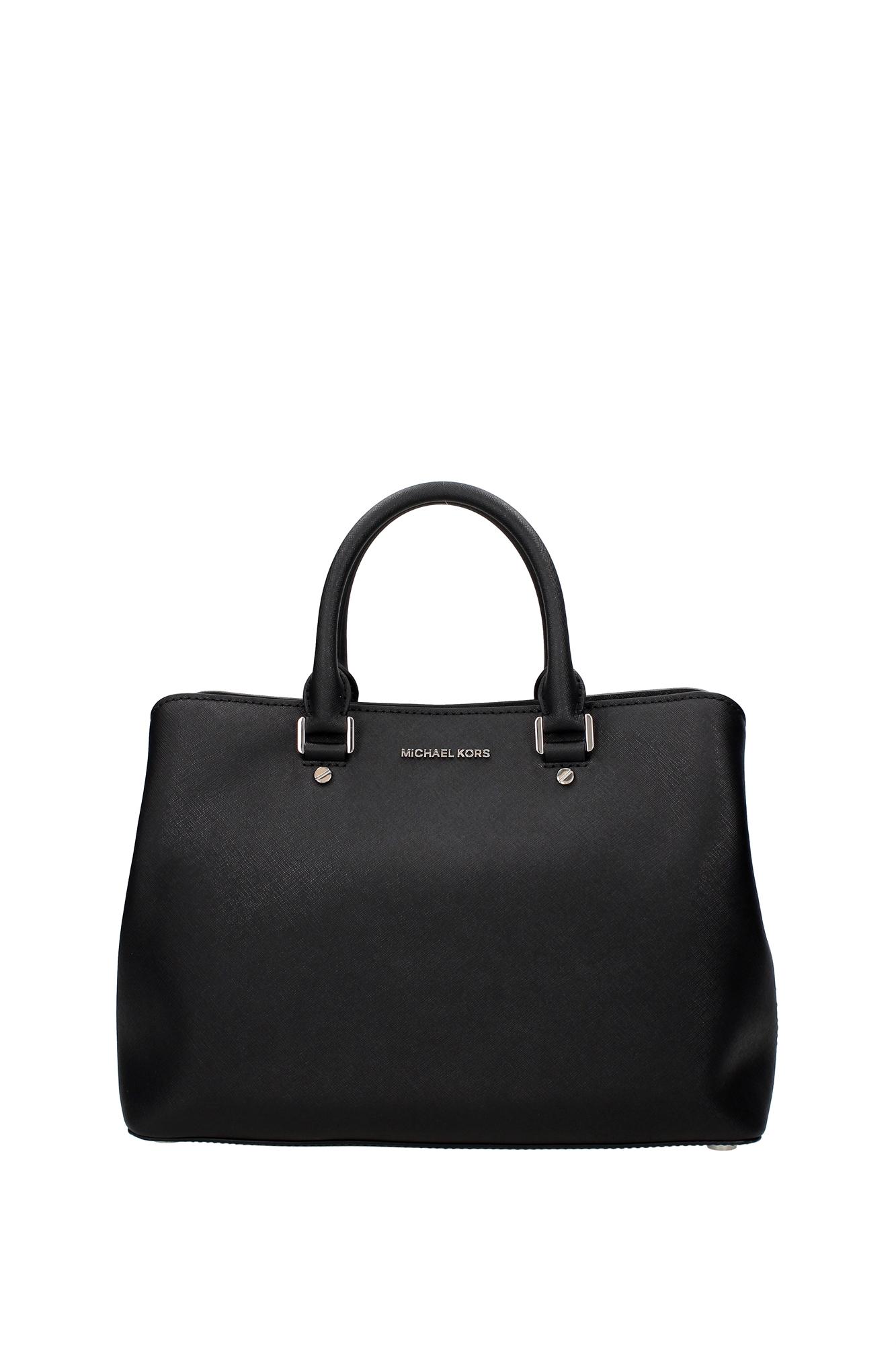 handtasche michael kors damen leder schwarz 30s6ss7s3lblack ebay. Black Bedroom Furniture Sets. Home Design Ideas