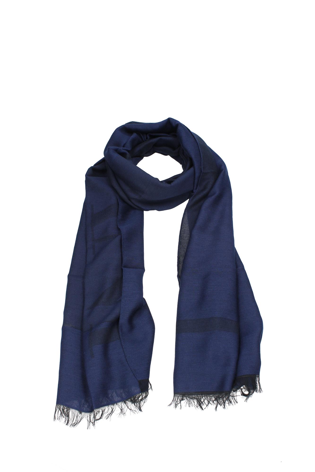 foulards scarves armani collezioni polyester blue