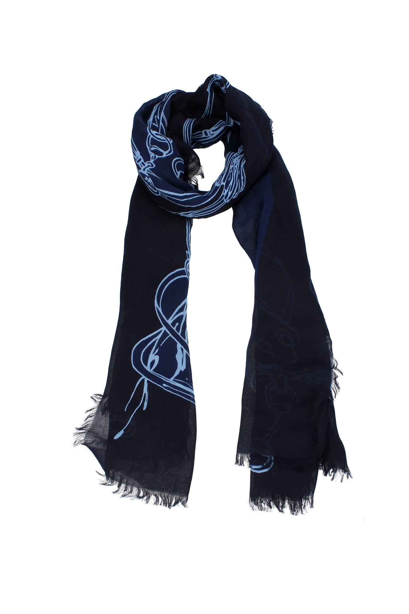 foulards scarves gucci cotton blue 3365384g1054169