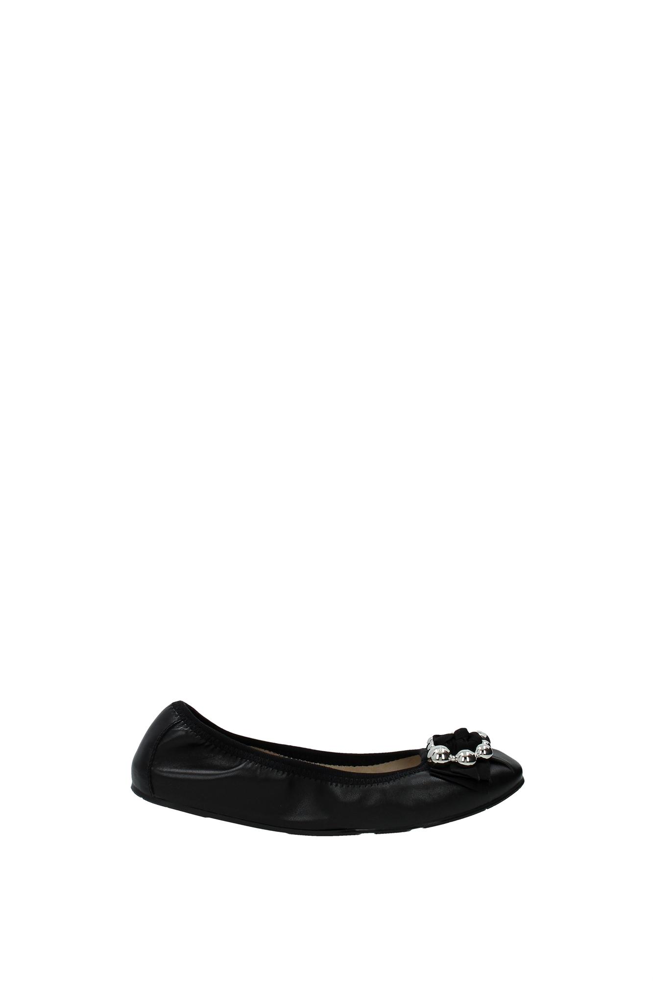 ... Ballet Flats Salvatore Ferragamo Women Leather Black FIFFY0644780NE RO
