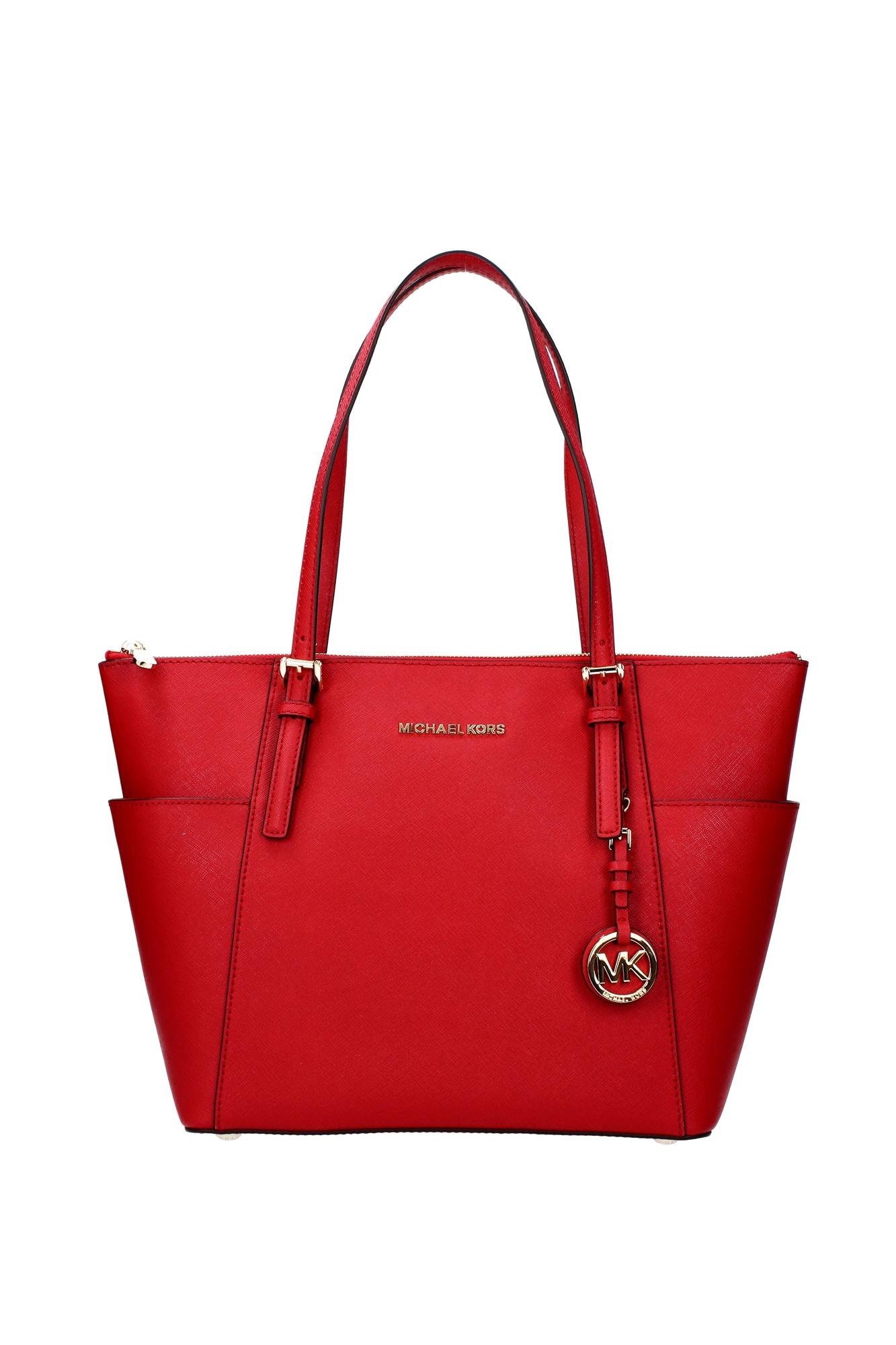 Borse Shopping Michael Kors Donna Pelle Rosso 30f2gttt8lbrightred - michael kors - ebay.it
