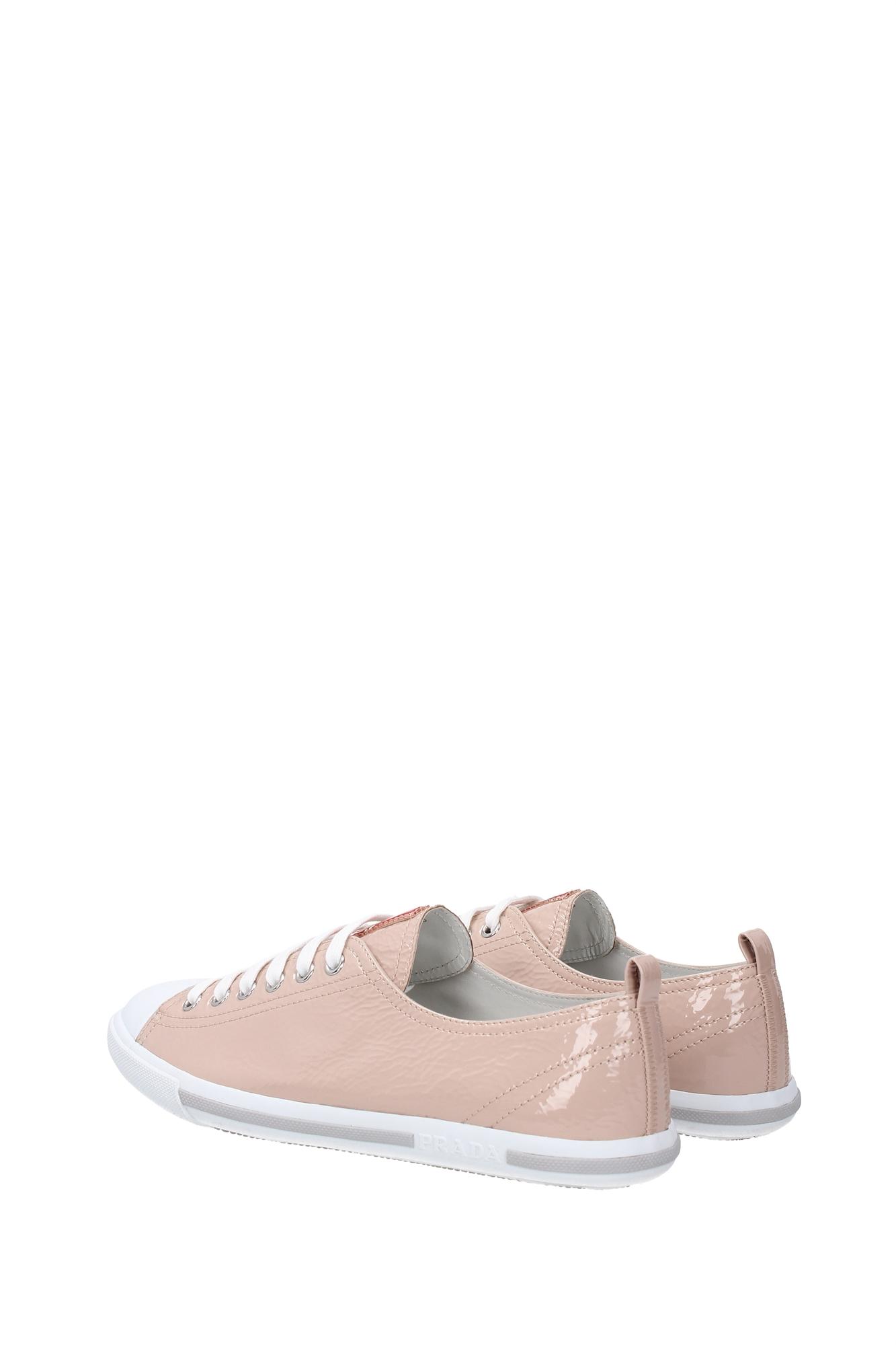 sneakers prada damen lackleder rosa 3e5811cipria ebay. Black Bedroom Furniture Sets. Home Design Ideas