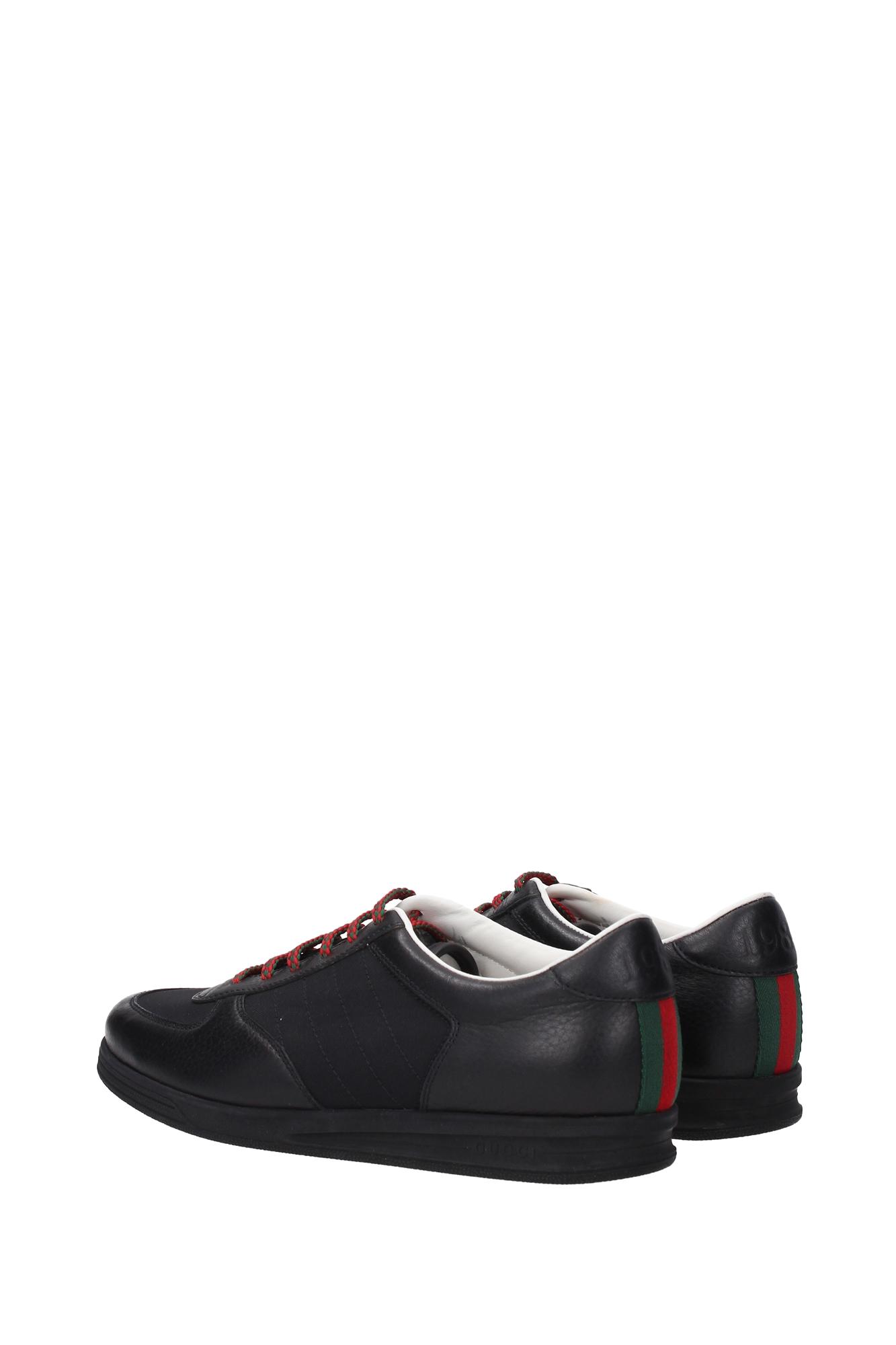 sneakers gucci damen leder schwarz 354303bhl701069 ebay. Black Bedroom Furniture Sets. Home Design Ideas