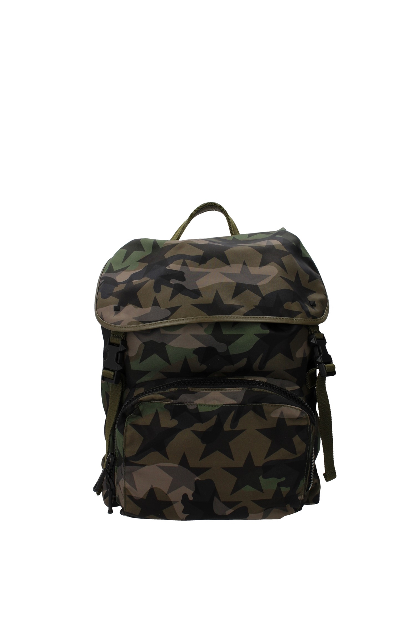Bags Backpack Valentino Garavani Men Fabric Green ...
