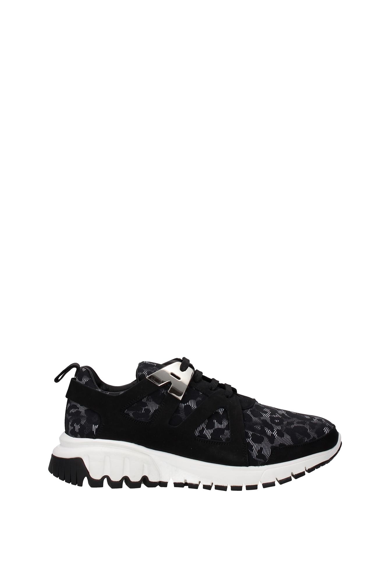 Sneakers-Neil-Barrett-Uomo-Tessuto-Nero-BCT117A901201