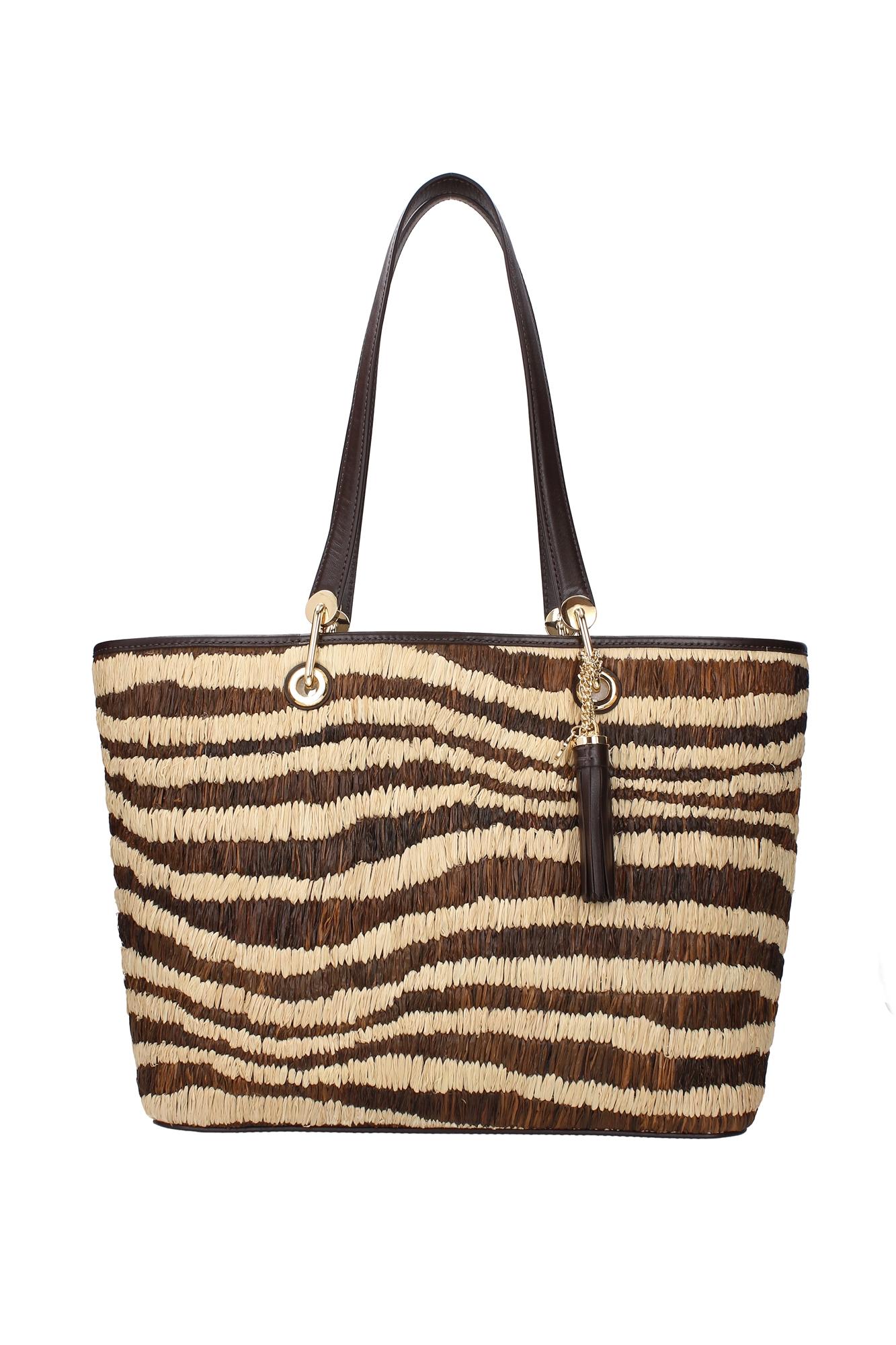 Borse Shopping Michael Kors Donna Rafia Beige 30s7gmbt7wnatural - michael kors - ebay.it