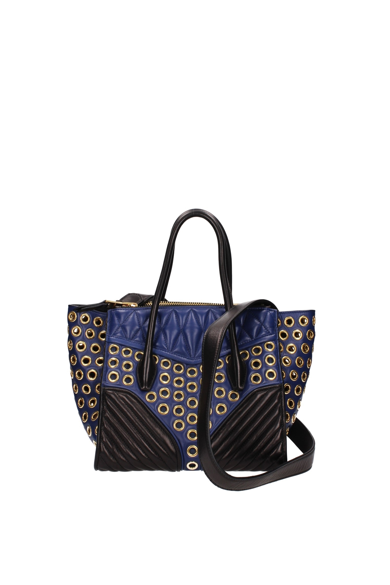 New Women Bag Denim Handbag Large Capacity Blue Shoulder Bag Weave Women